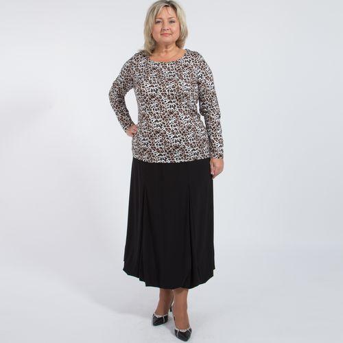 Блуза с актуальным принтом «леопард»