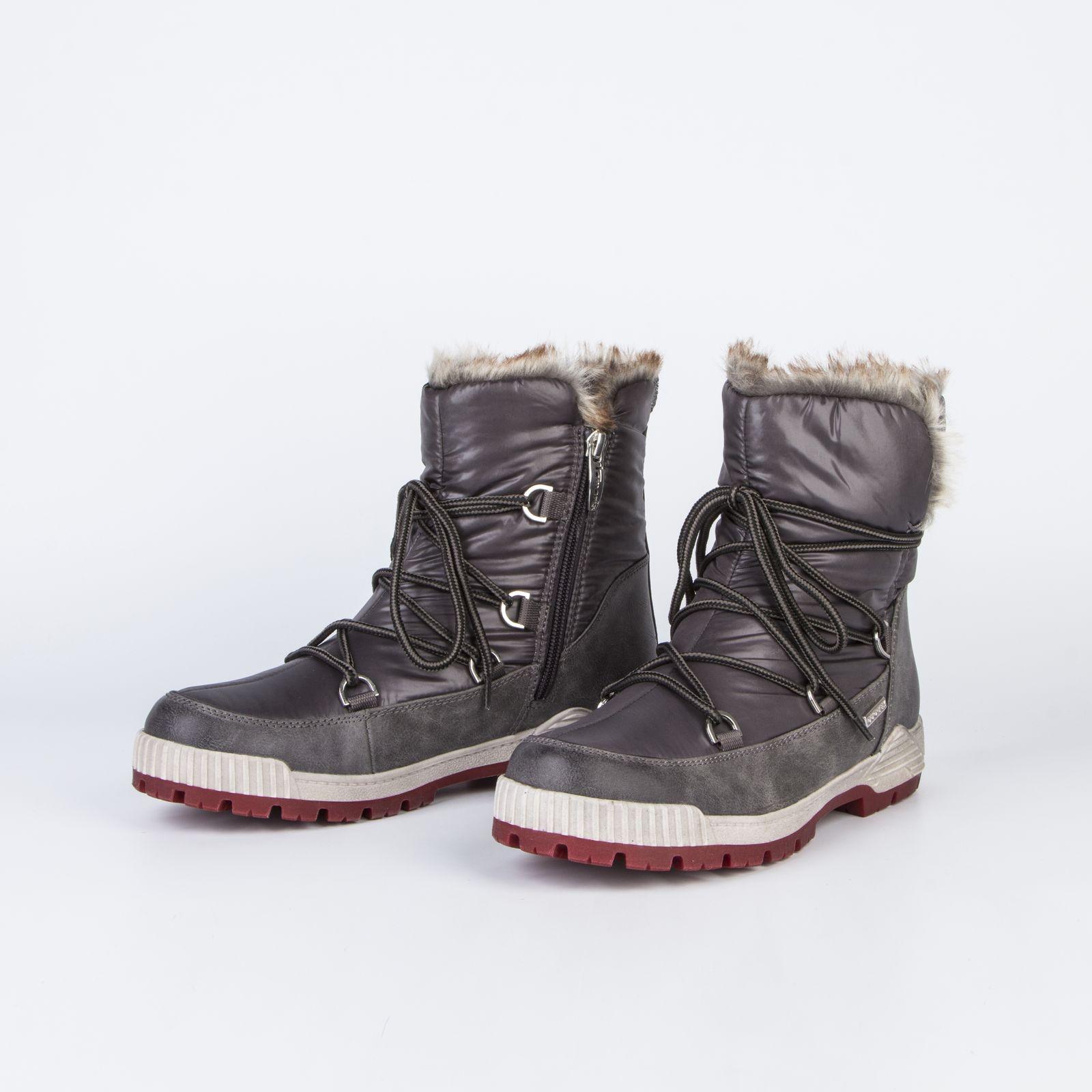 Ботинки-дутики женские на шнуровке