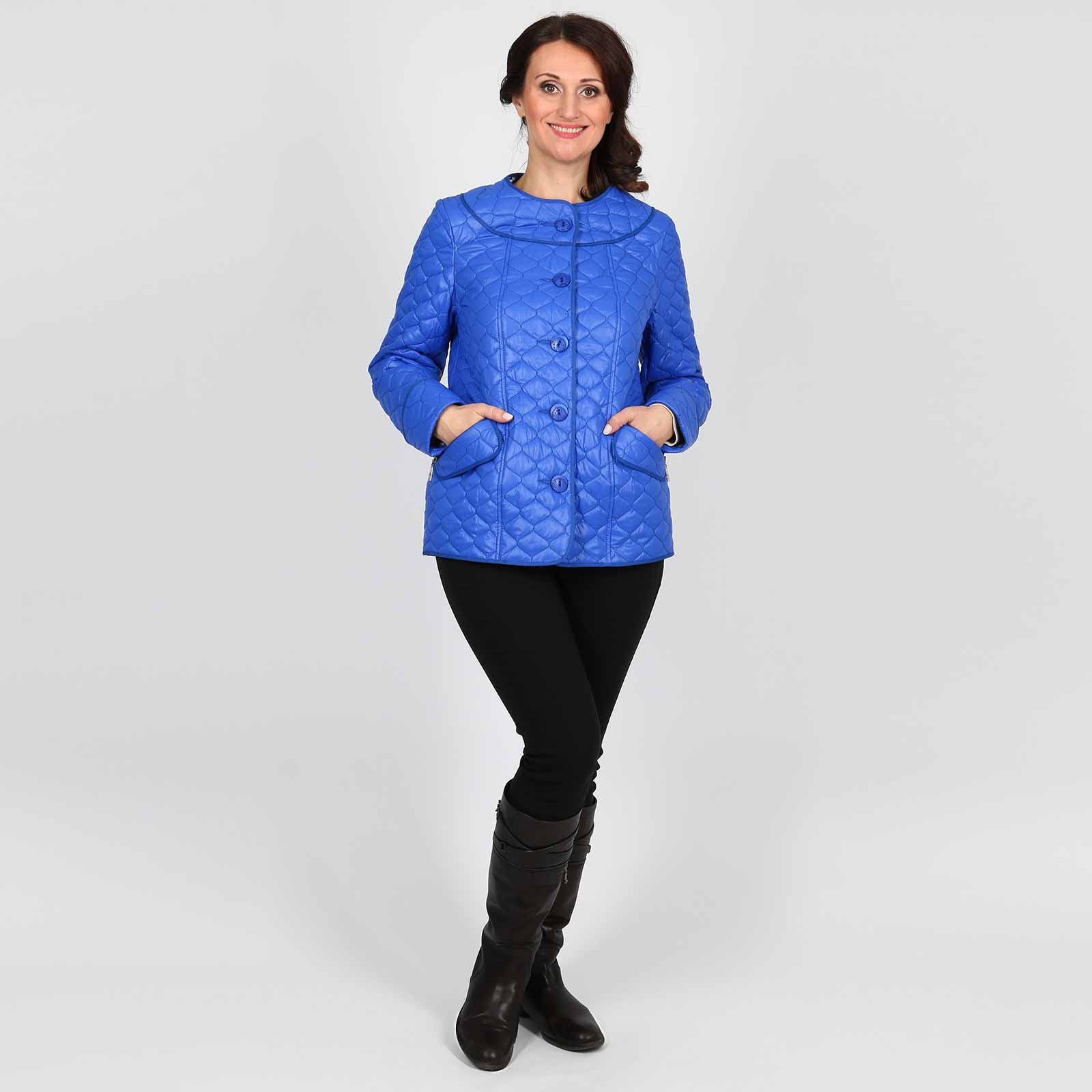 Куртка стеганая с контрастной подкладкой