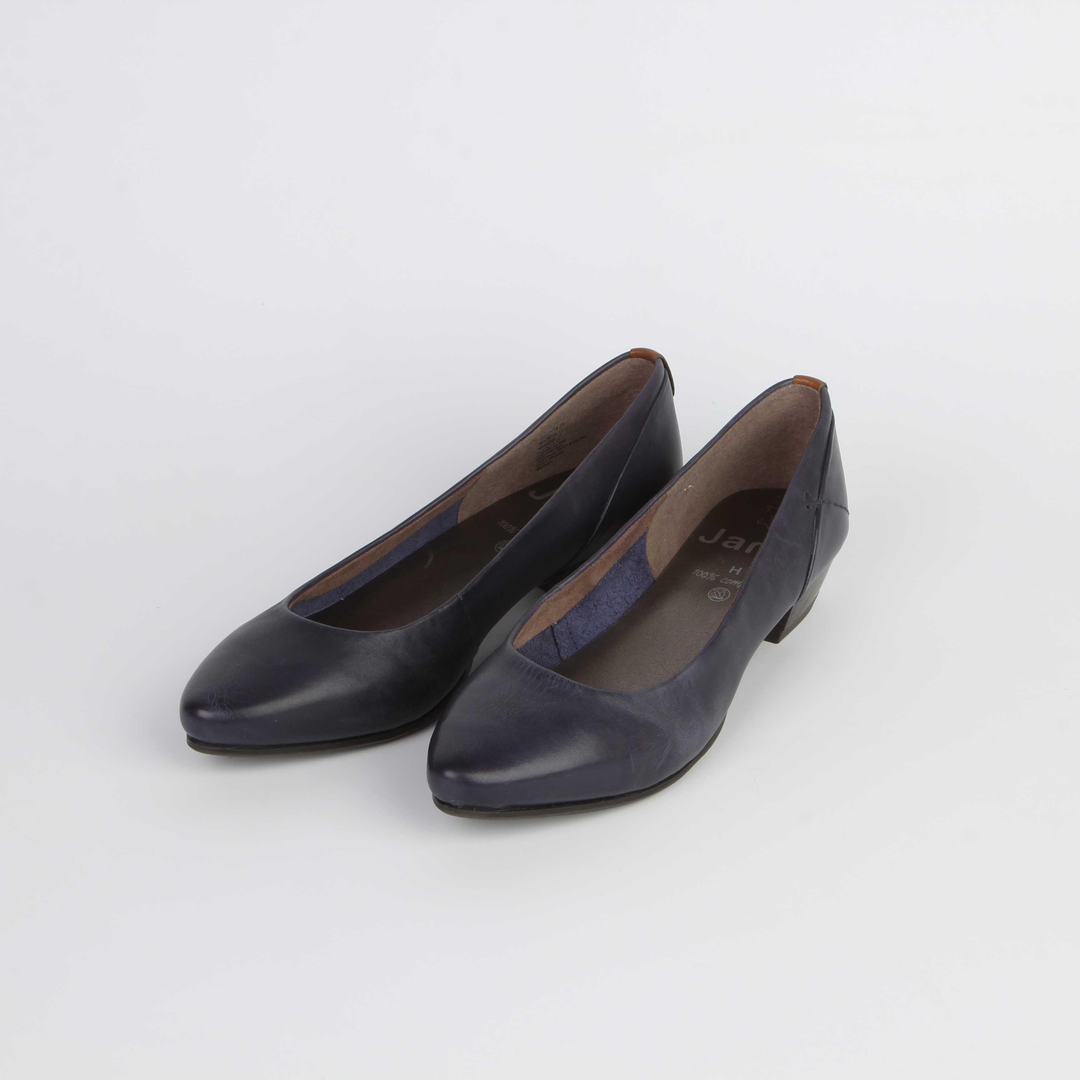 Туфли женские классические из натуральной кожи на низком каблуке