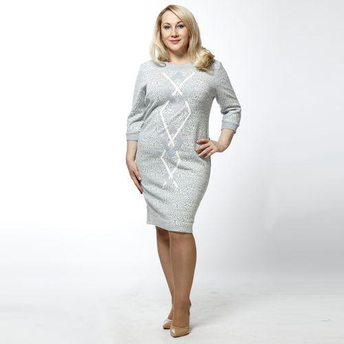Платье с люрексом и декоративной аппликацией
