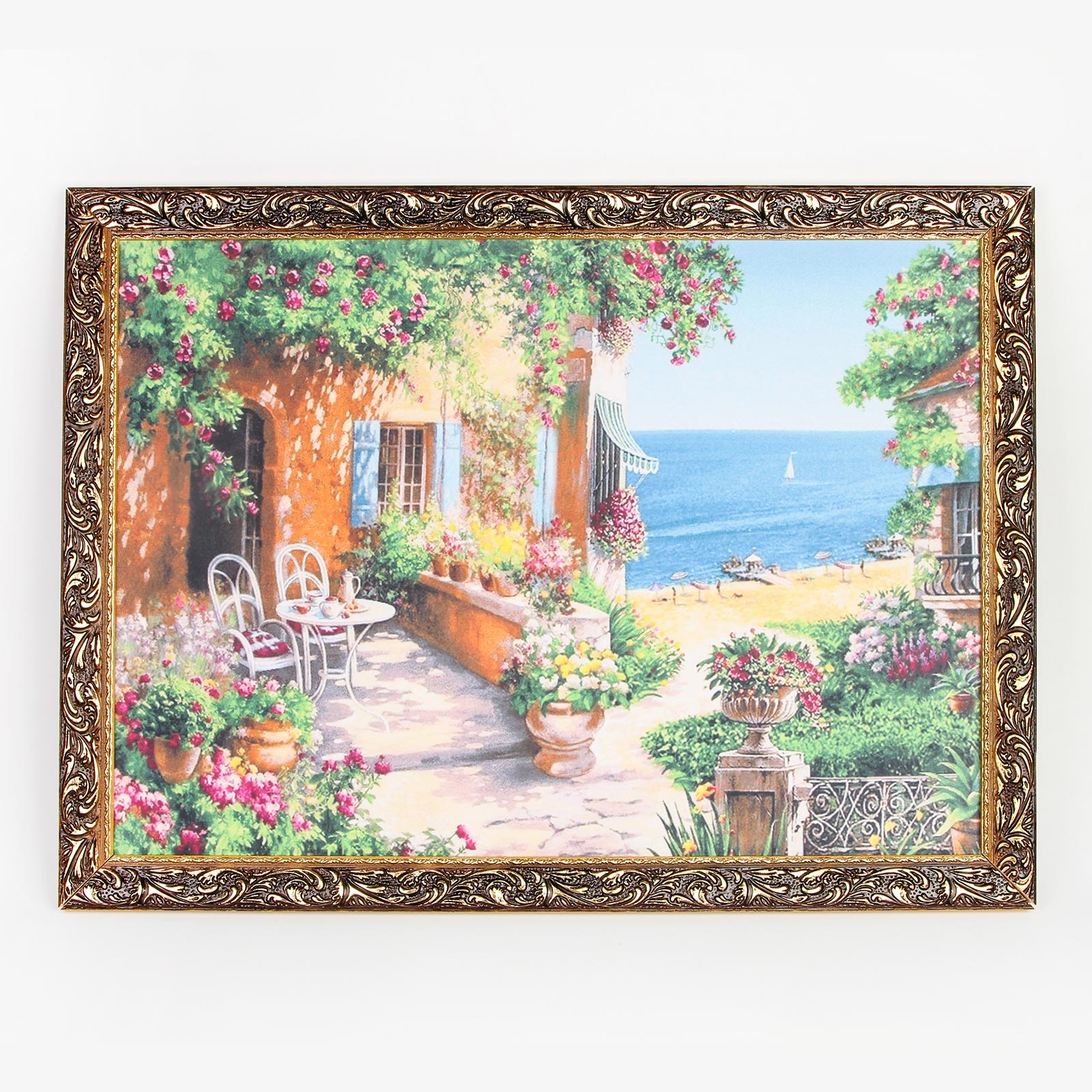 Картина на холсте в резном багете