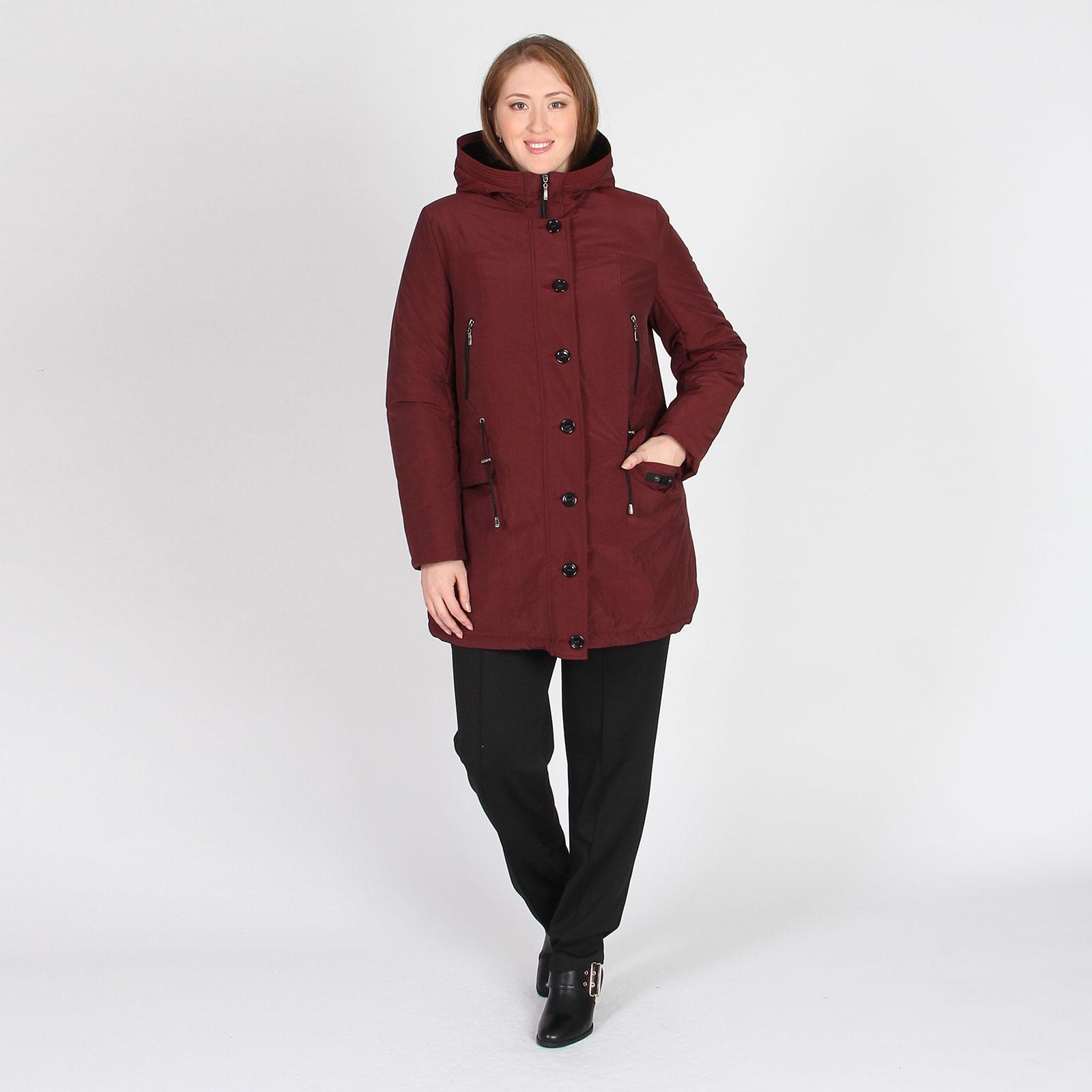 Куртка удлиненная с капюшоном и карманами