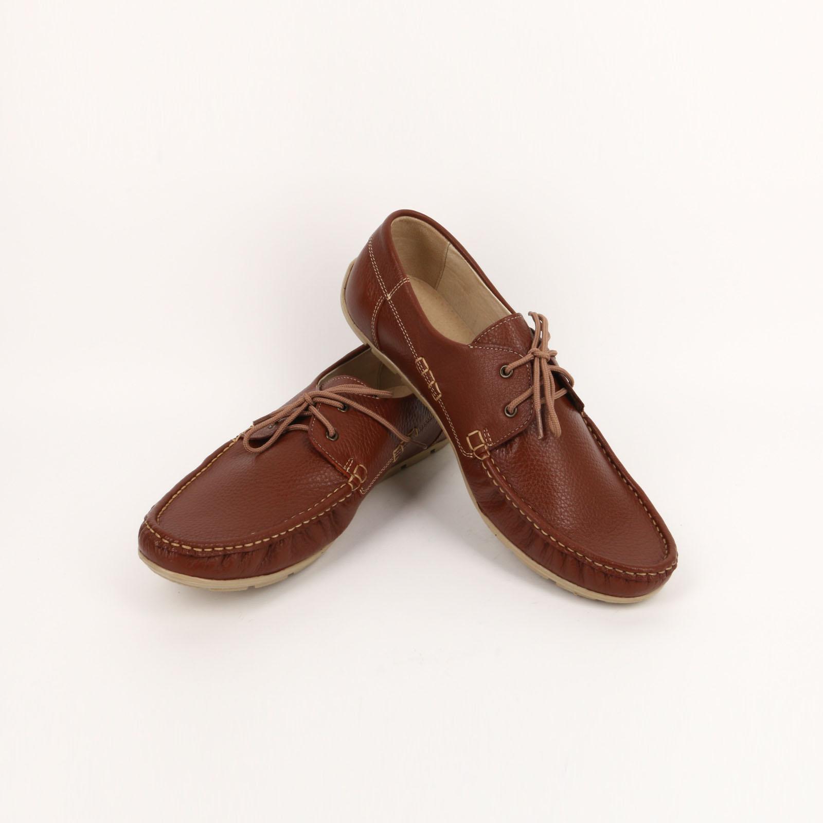 Мокасины комфортные на шнурках