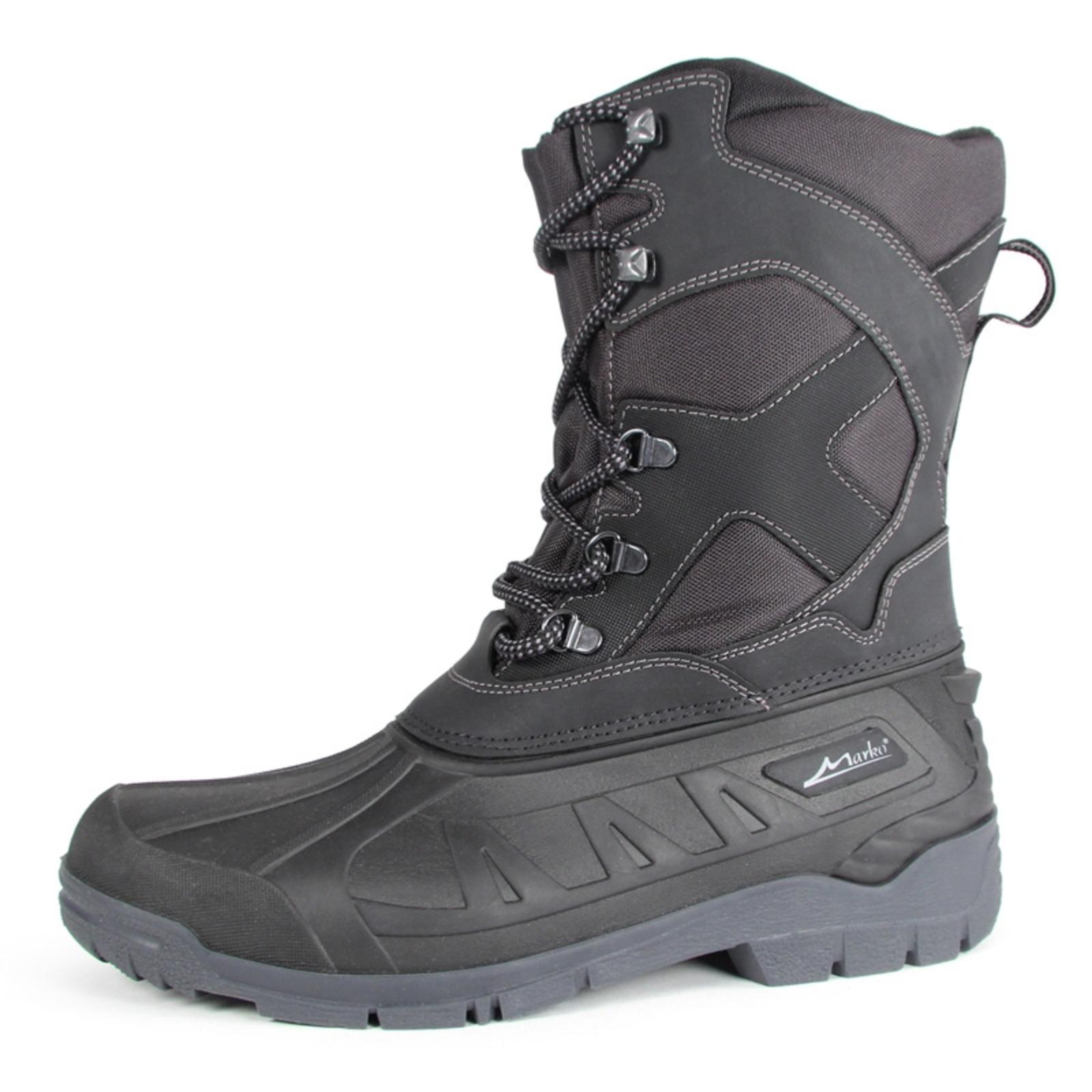 Высокие утепленные ботинки на шнуровке