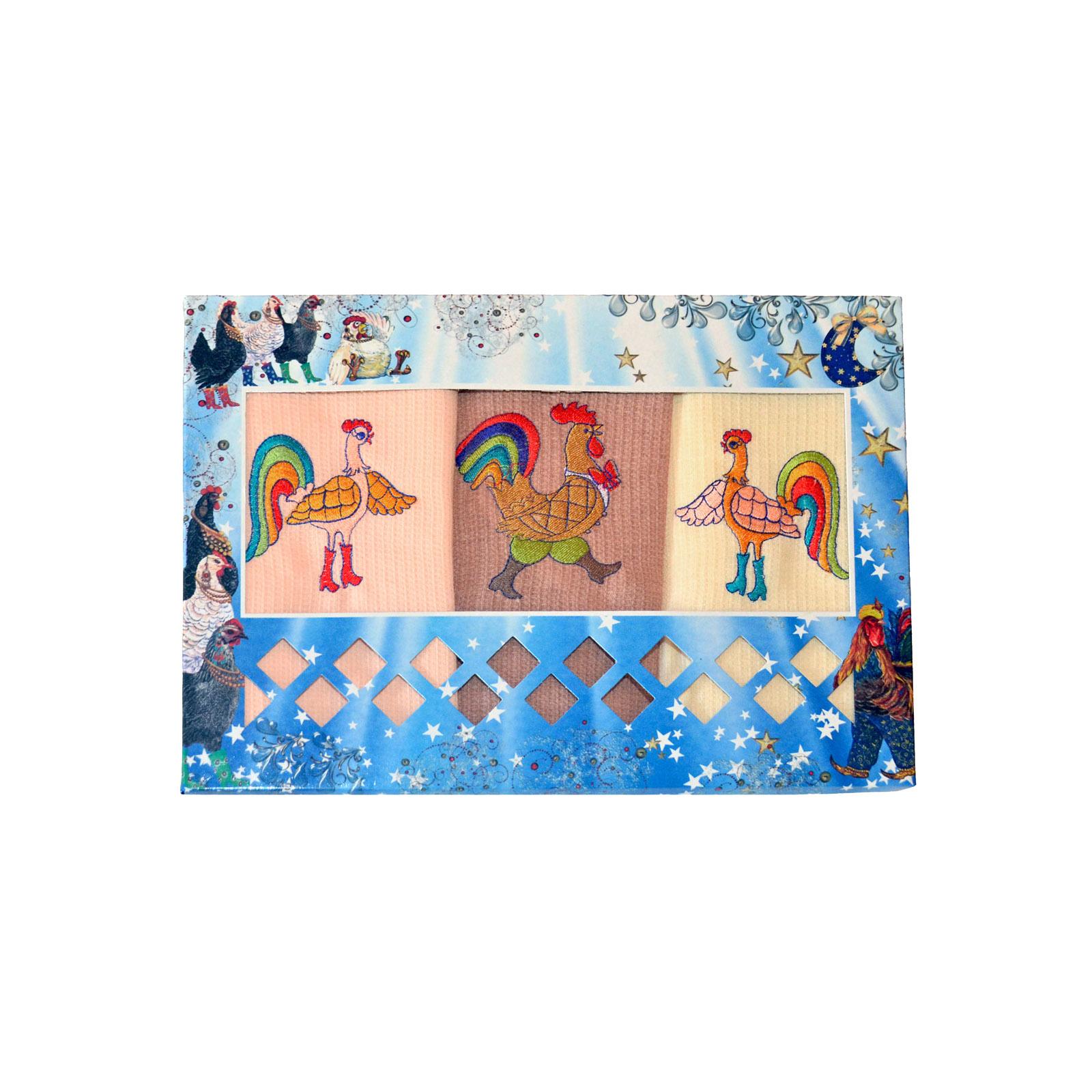 Набор полотенец «Веселые петухи»