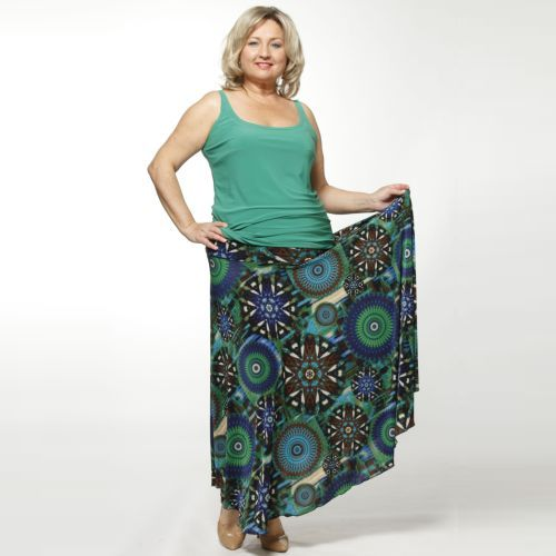 Комплект: топ и юбка с фантазийным принтом