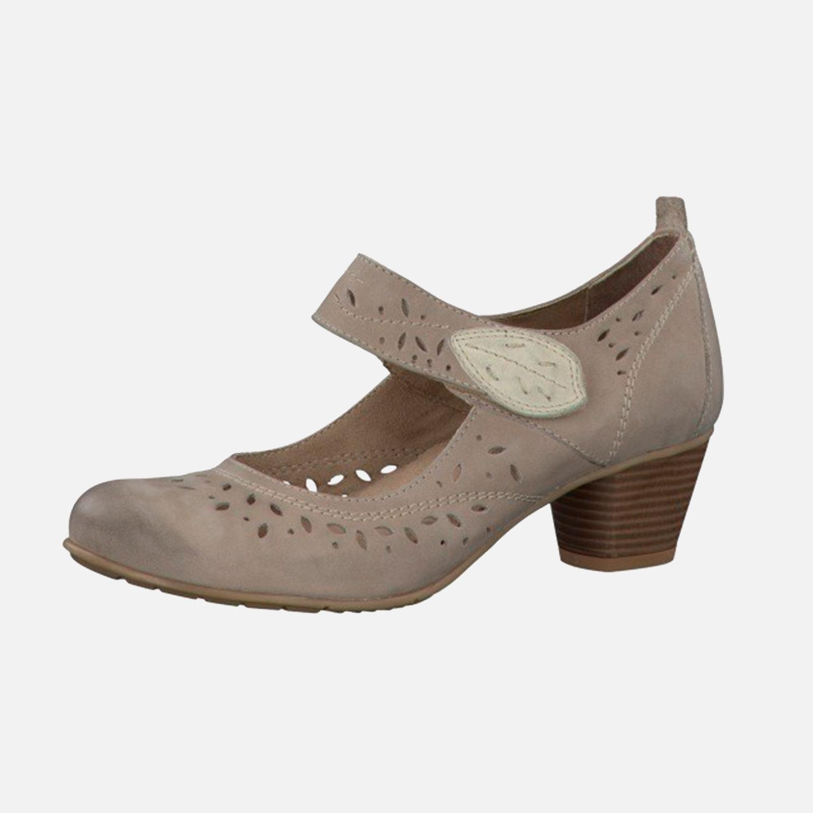 Туфли женские из натуральной кожи декорированные перфоацией и строчкой