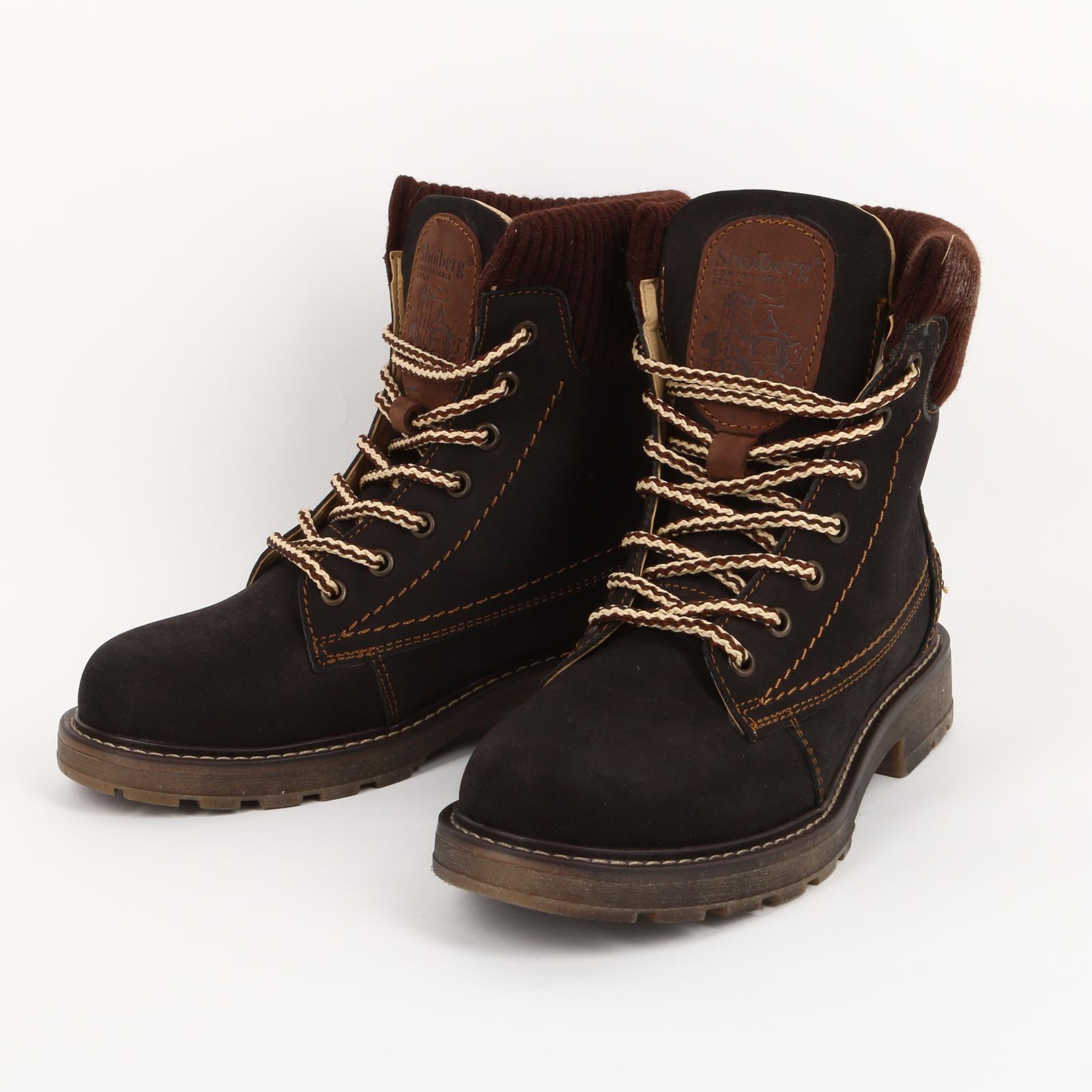 Высокие ботинки с текстильными вставками мужские ботинки shoiberg