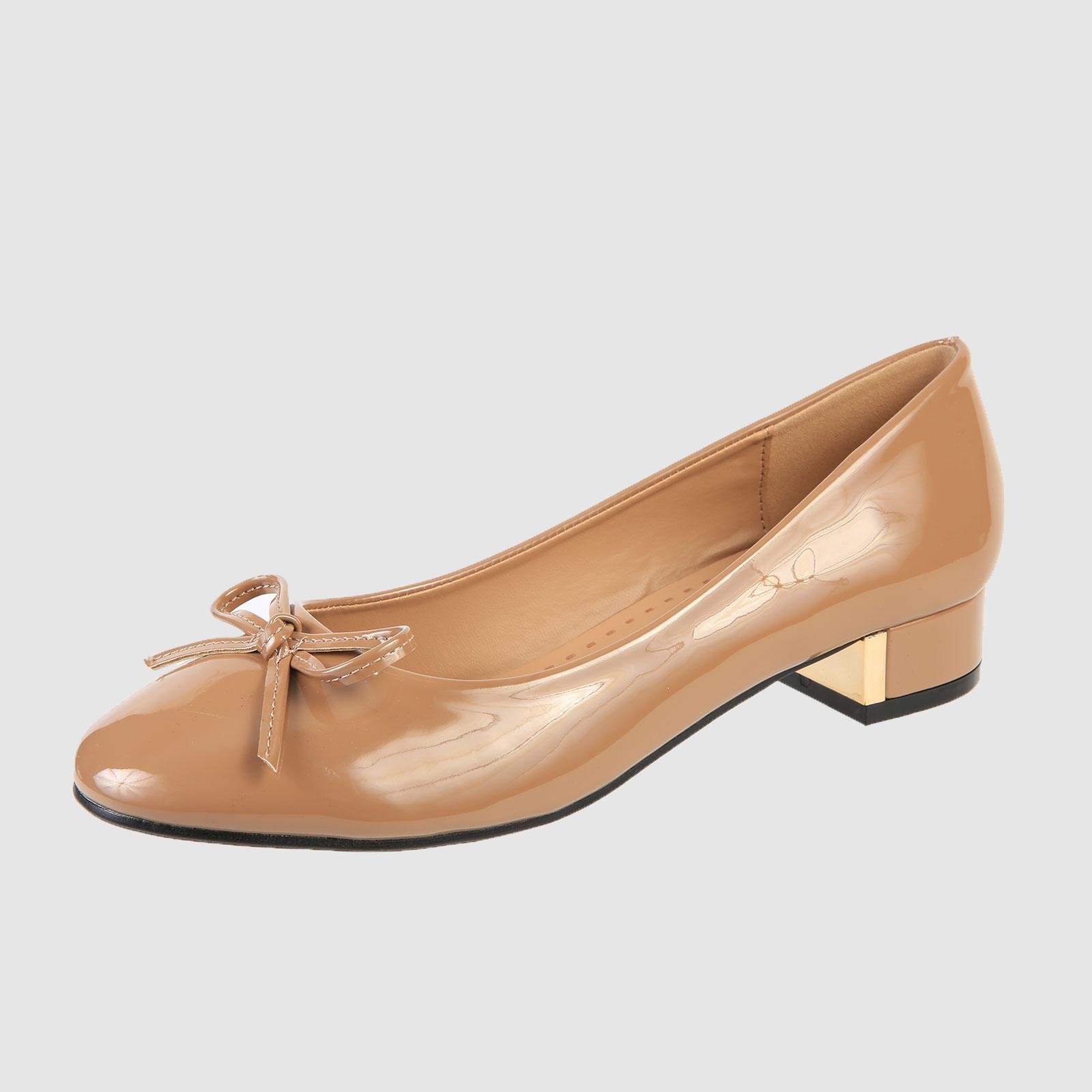 Летние женские туфли с бантиком на мысу