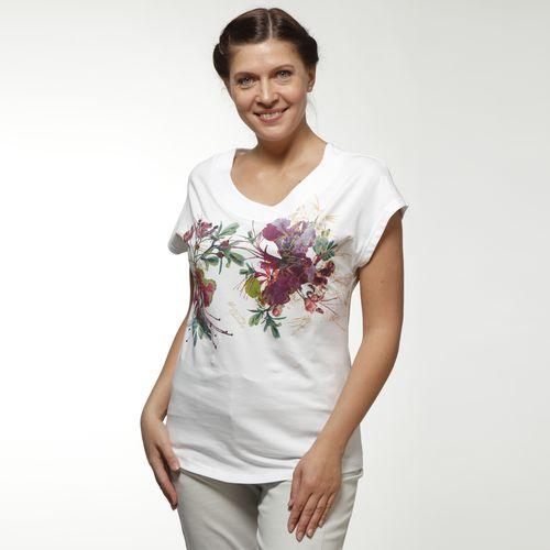 Женская футболка с принтом «Ирисы»