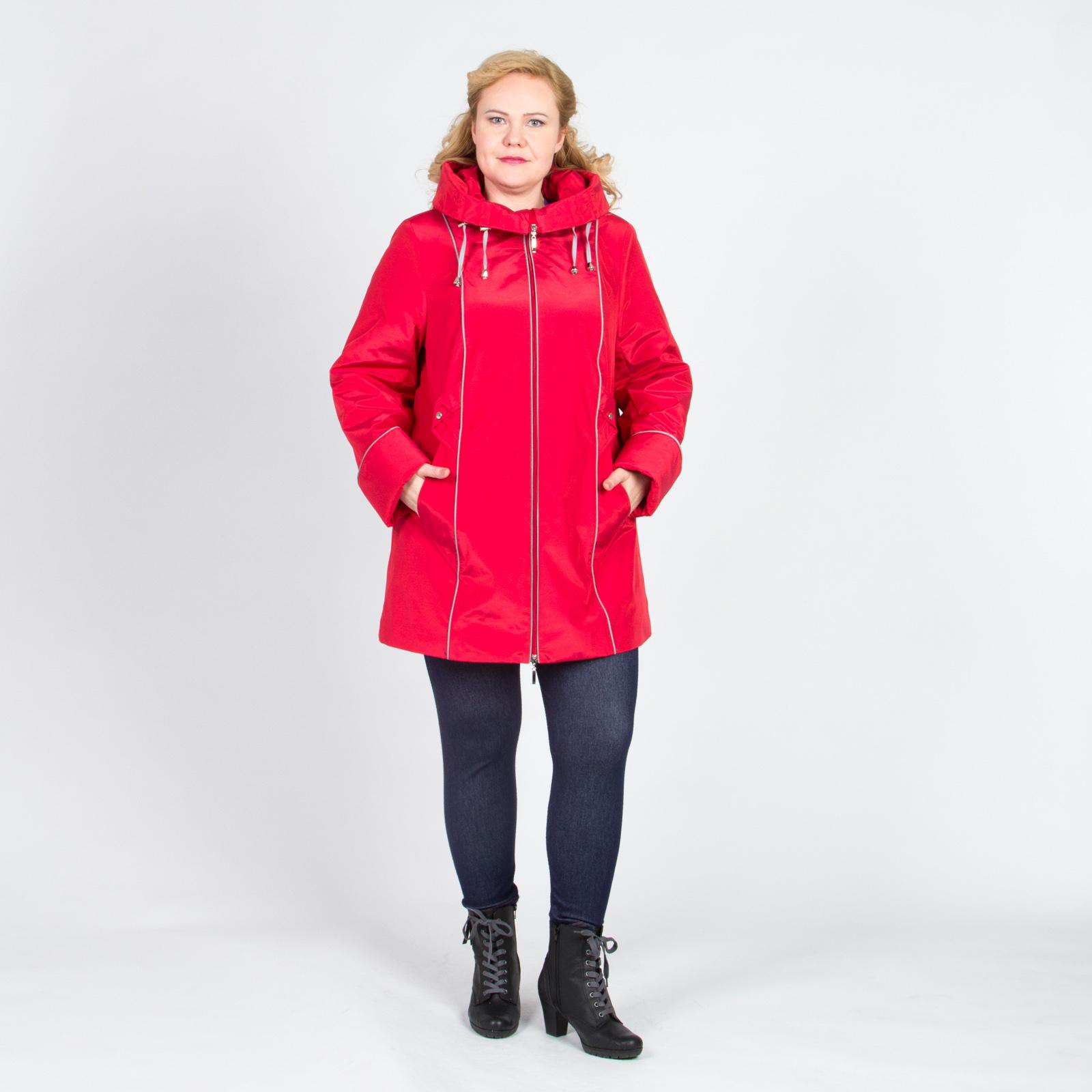 Куртка на молнии свободного кроя с оригинальным воротником