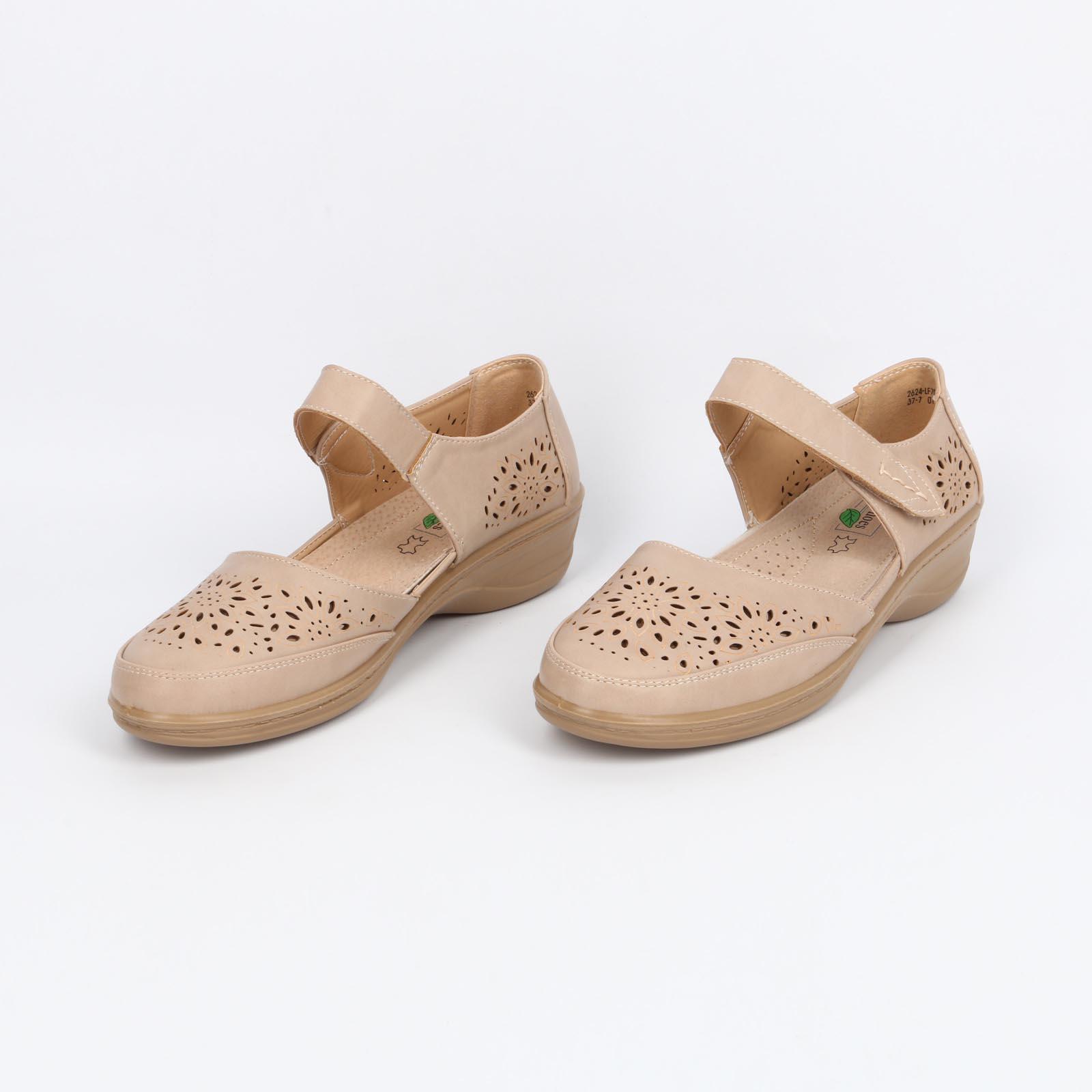 Туфли летние открытые с перфорацией