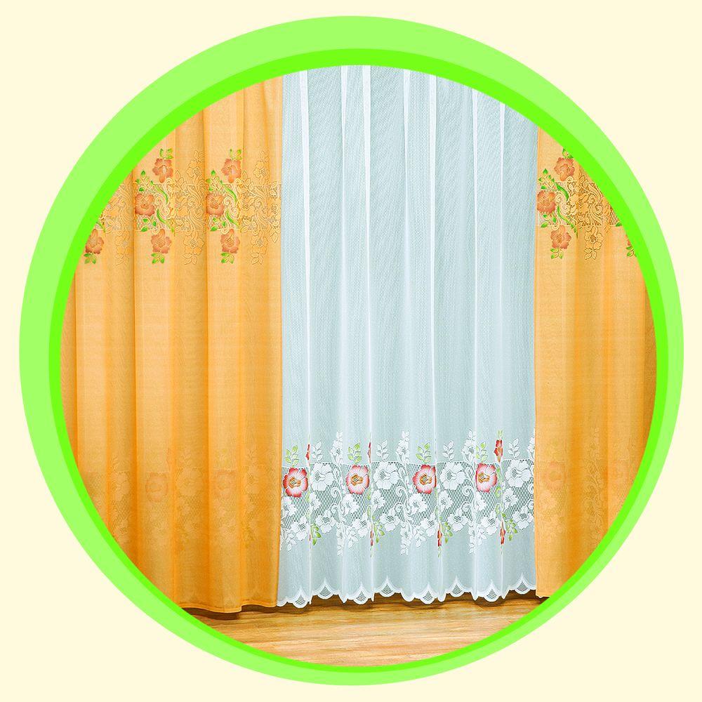 Комплект штор + тюль «Золотой бутон»