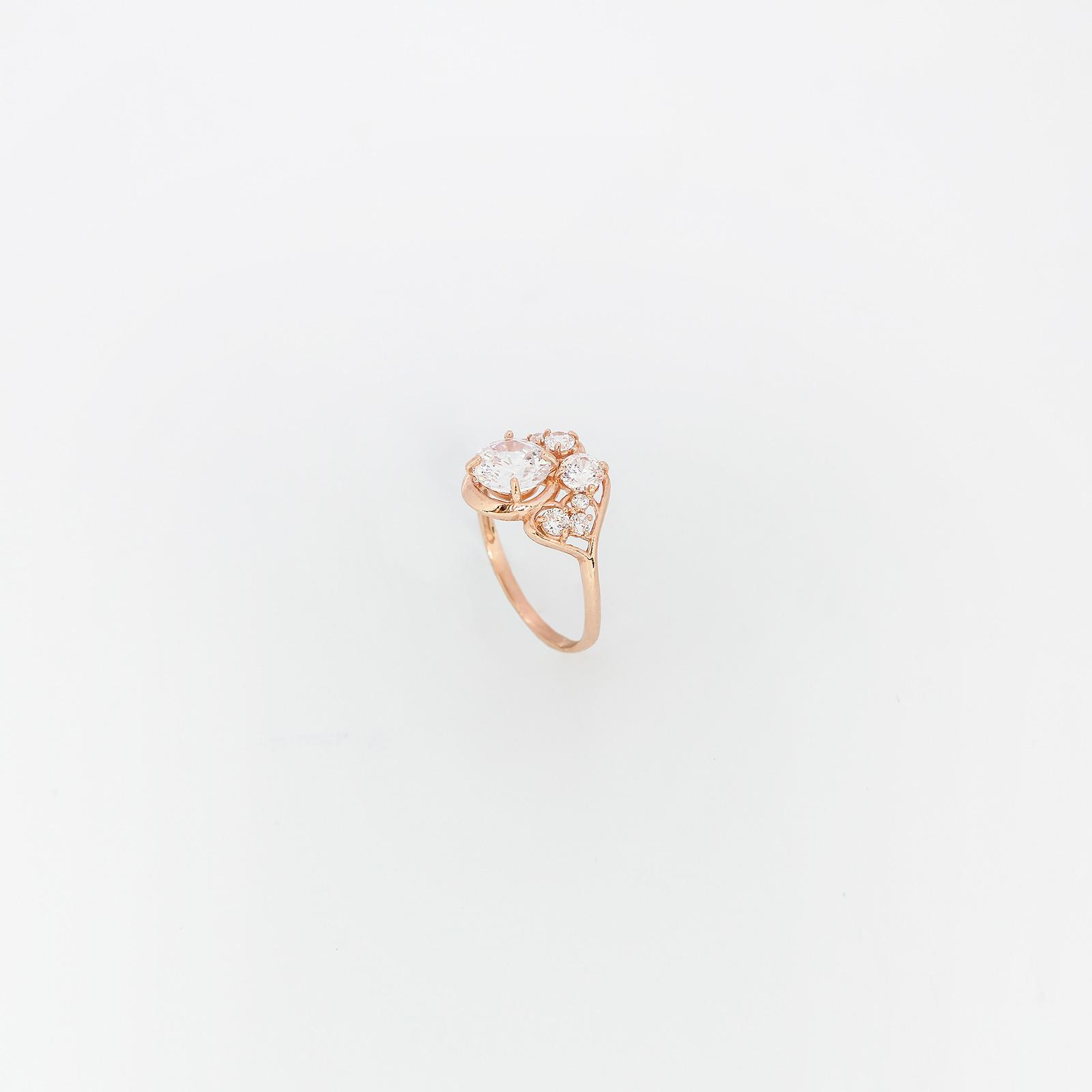 Серебряное кольцо «Белоснежный Версаль»
