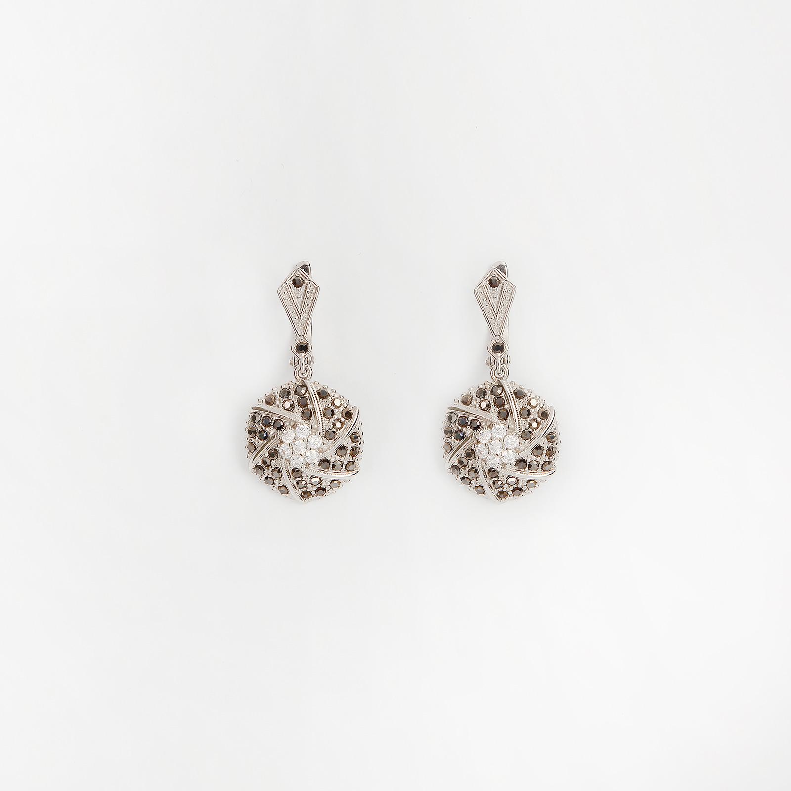 Серебряные серьги «Бриллиантовая россыпь»