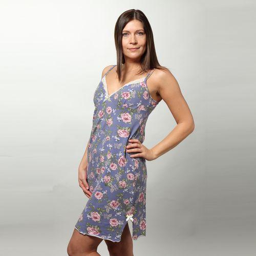 Сорочка с принтом «Нежная роза»