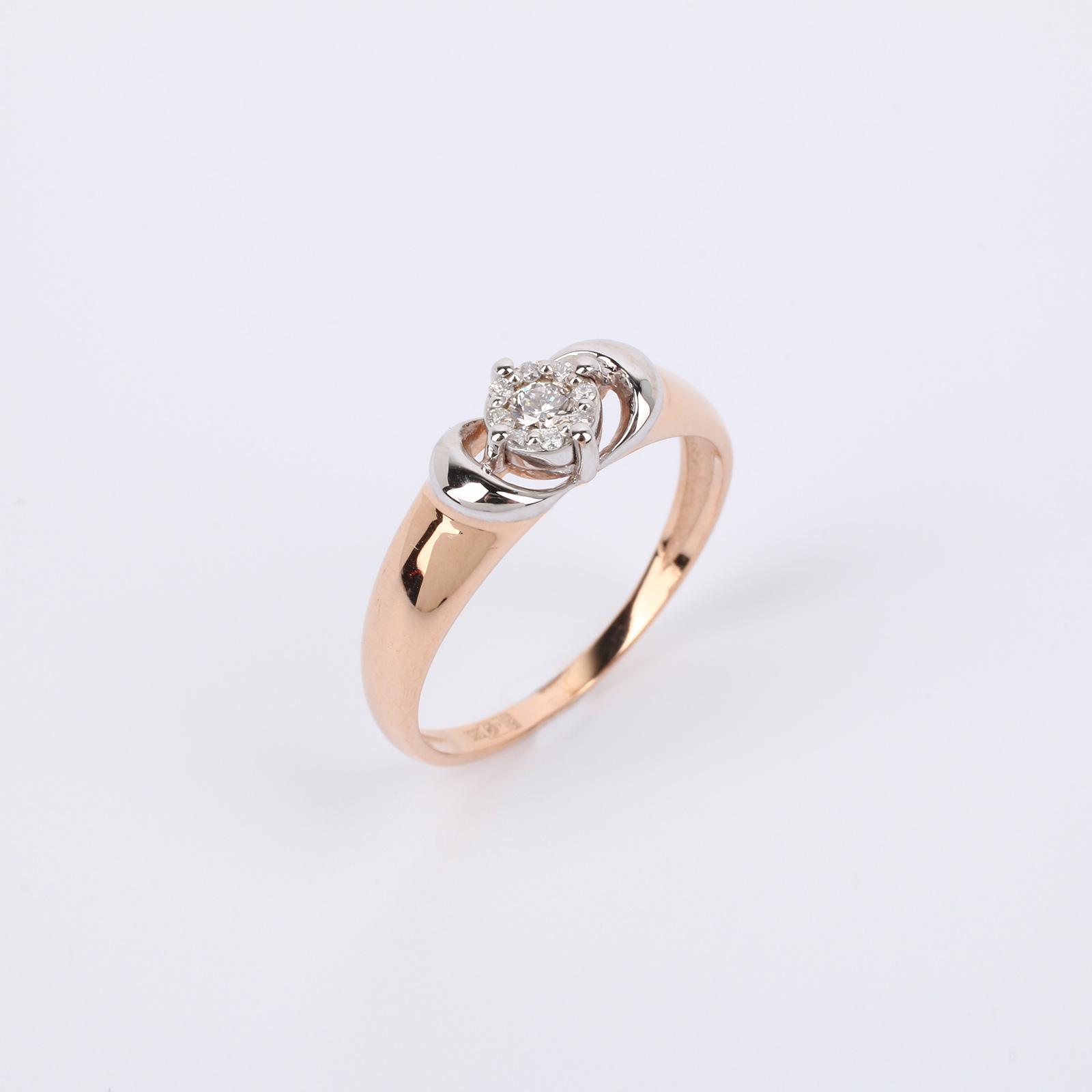 """Кольцо из золота с бриллиантом """"Достояние"""""""