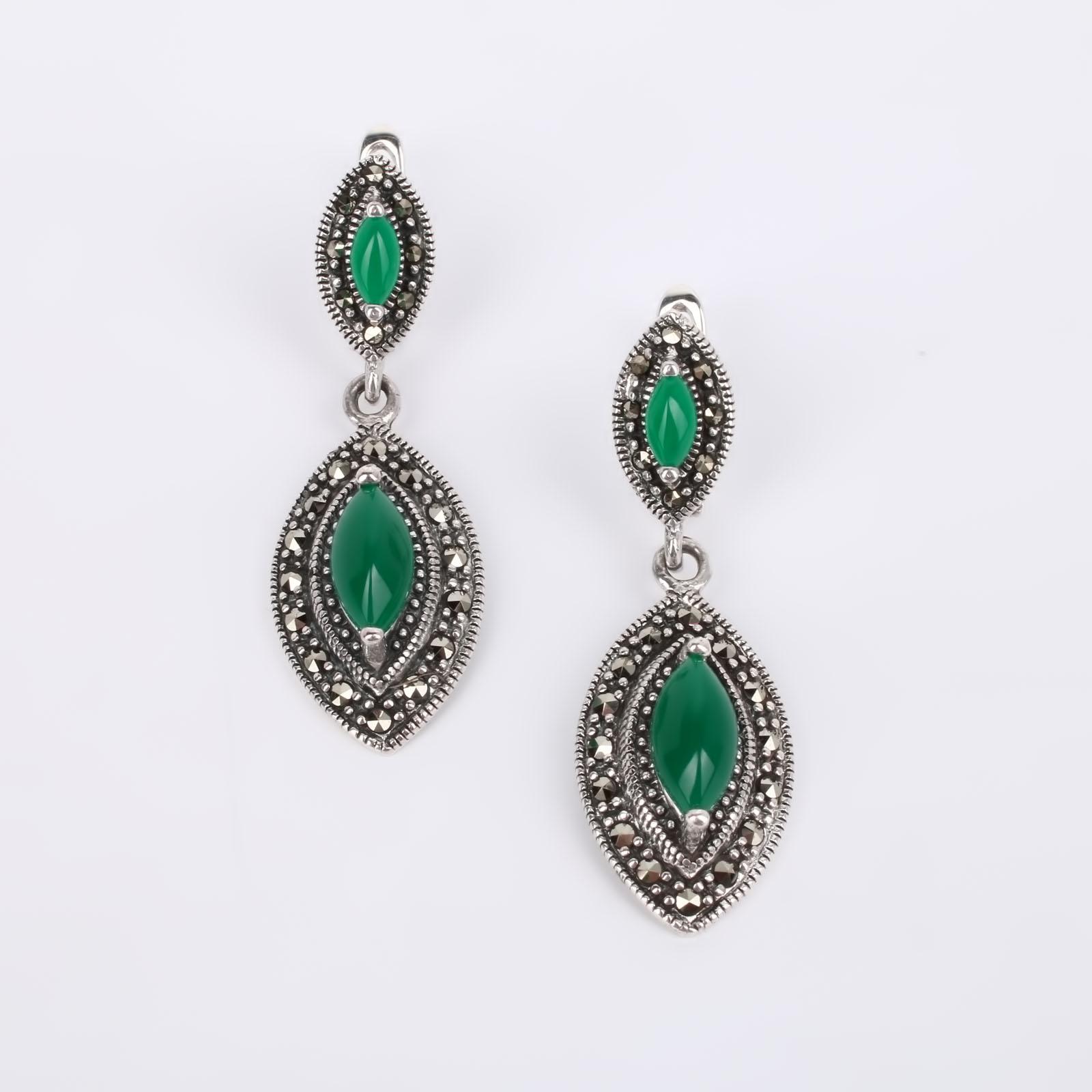 Серебряные серьги Сагдана silver wings silver wings серьги 22ae2227gs r 148