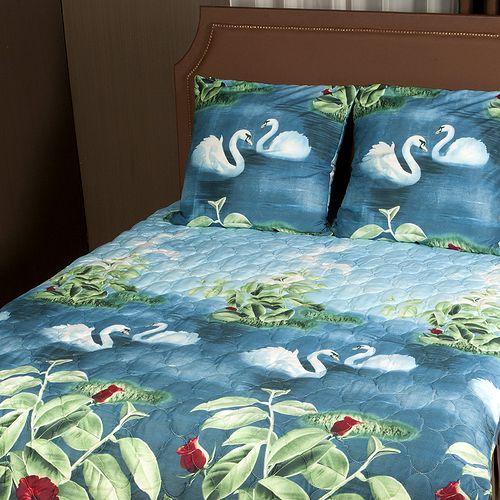 Комплект постельного белья «Зима-Лето. Лебеди»