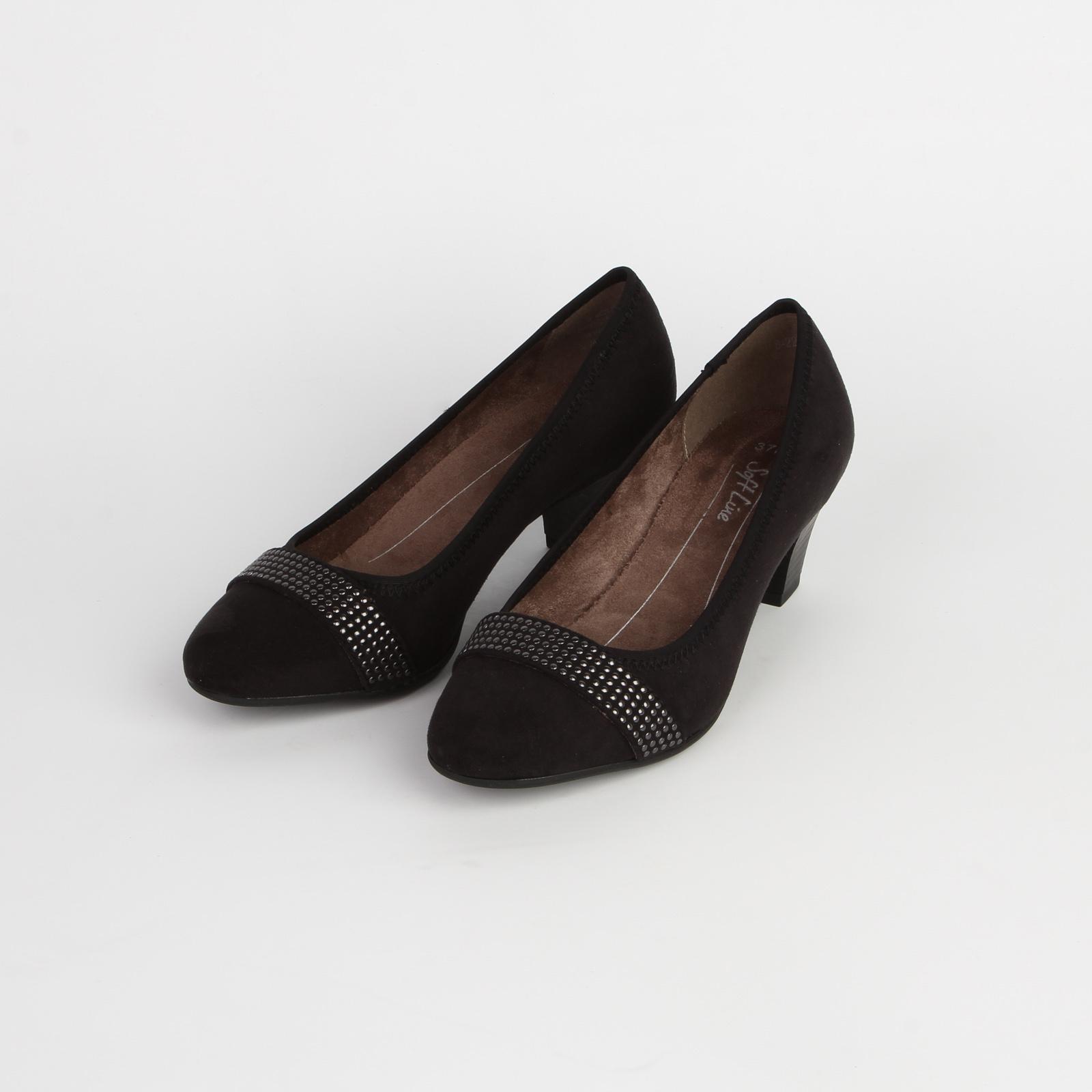 Туфли женские с декорированным ремешком на мысу