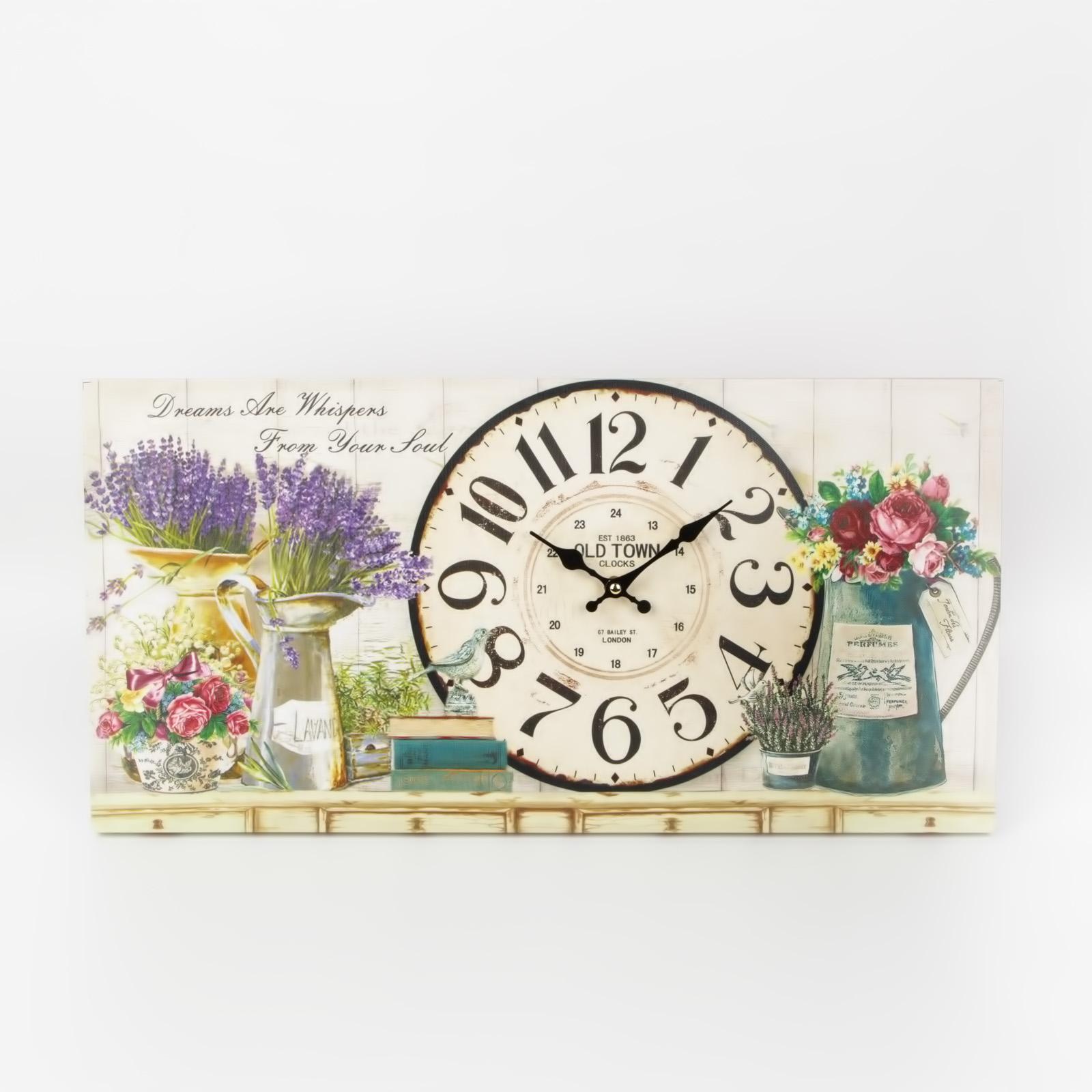 """Часы настенные """"Цветущие травы"""""""
