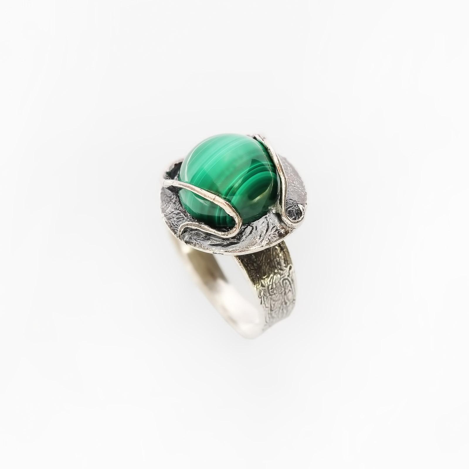 Серебряное кольцо «Хозяйка медной горы»