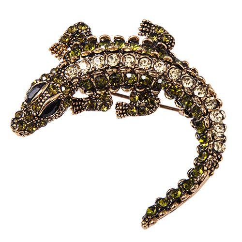 Брошь «Крокодил»