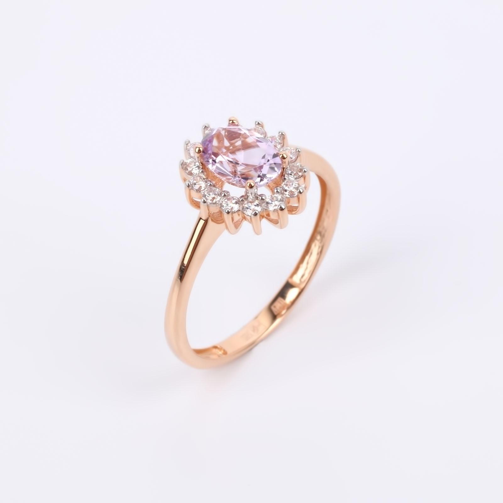 """Золотое кольцо """"Фиалковая мечта"""""""