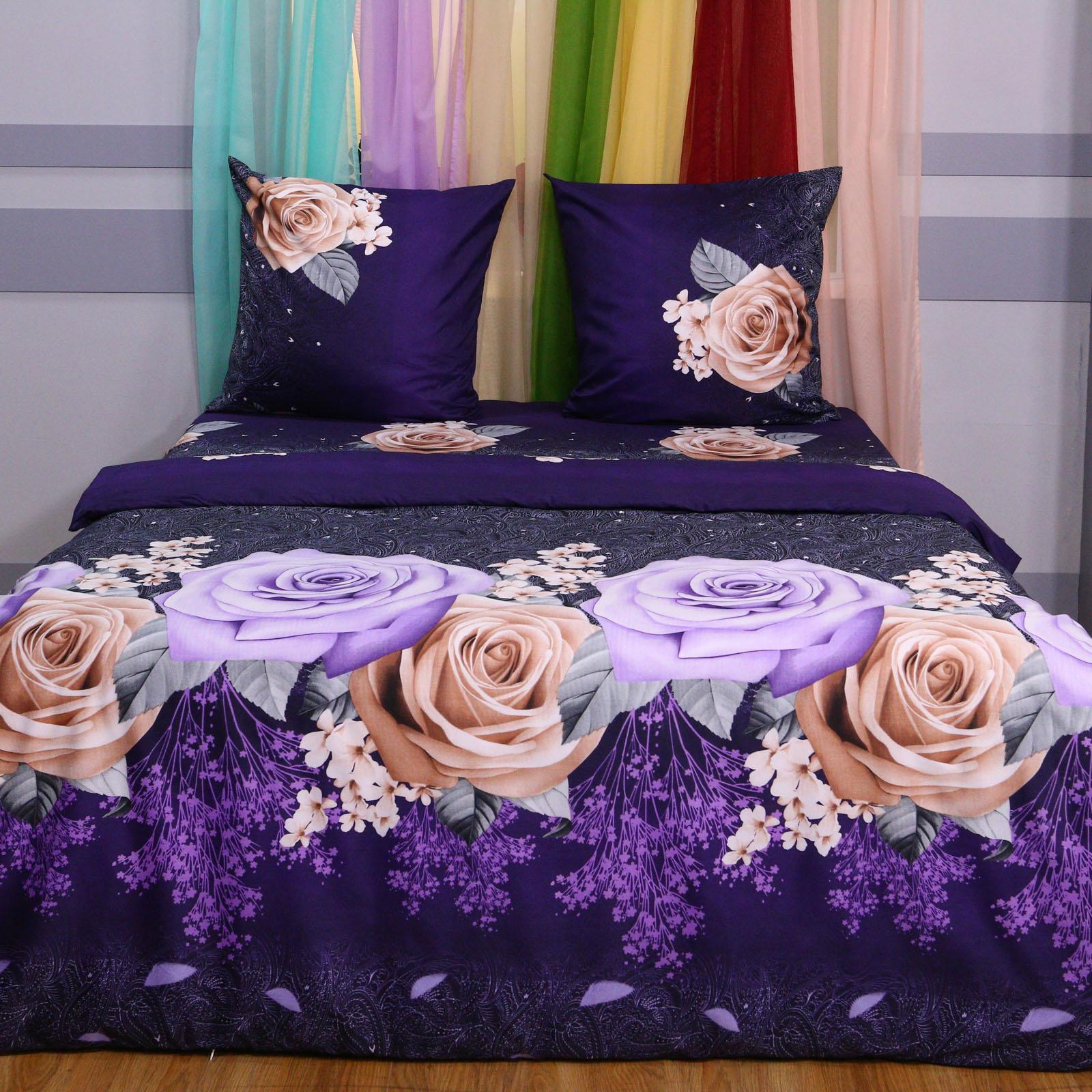 """Комплект постельного белья """"Фиолетовые розы"""""""