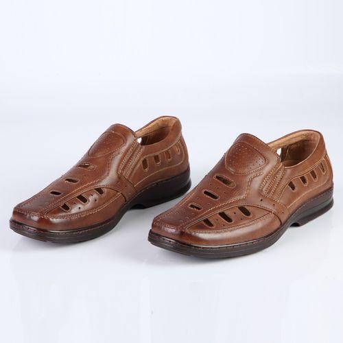 Мужские сандалии с эластичными вставками на утолщенной подошве