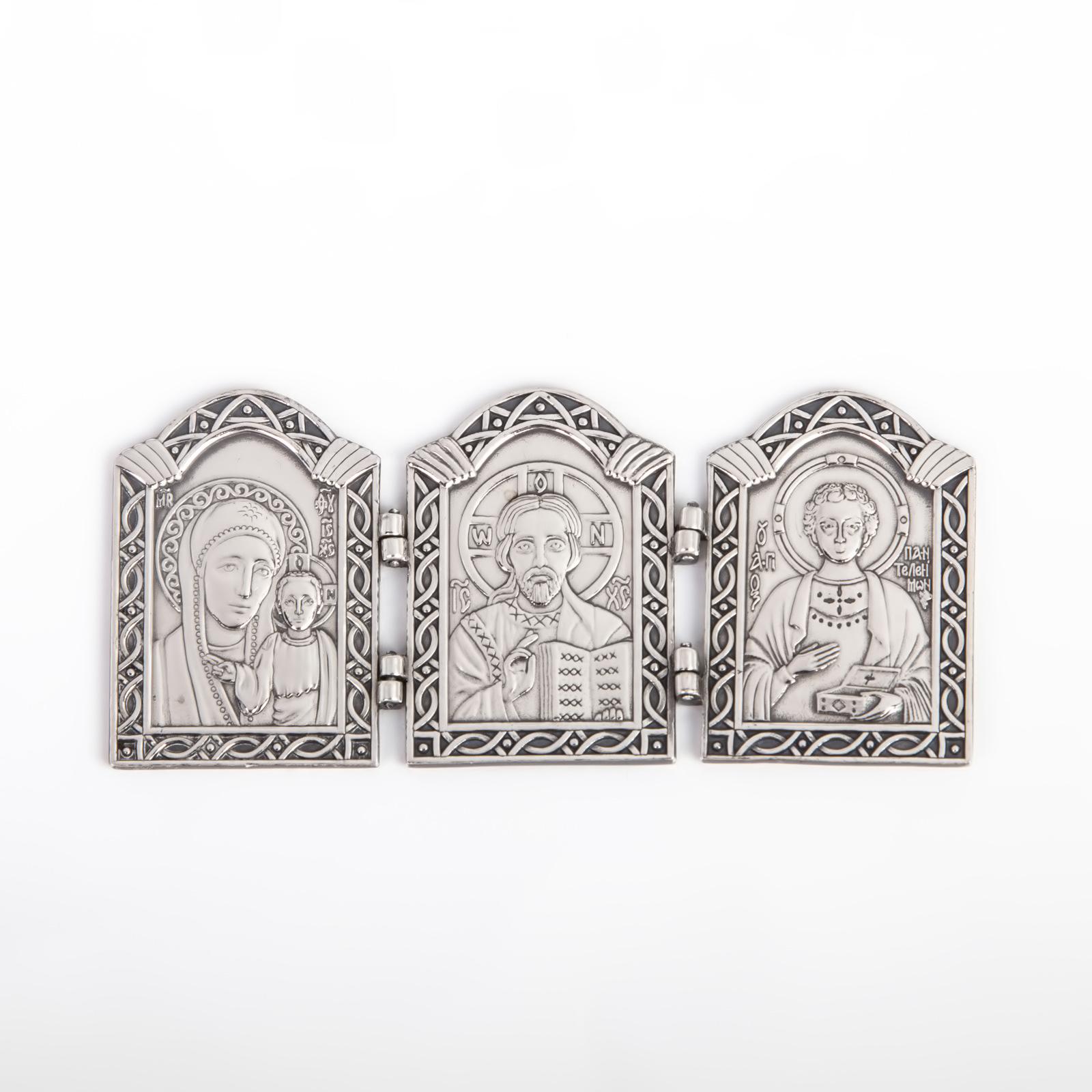Серебряная плакетка «Тройная» сувенирная