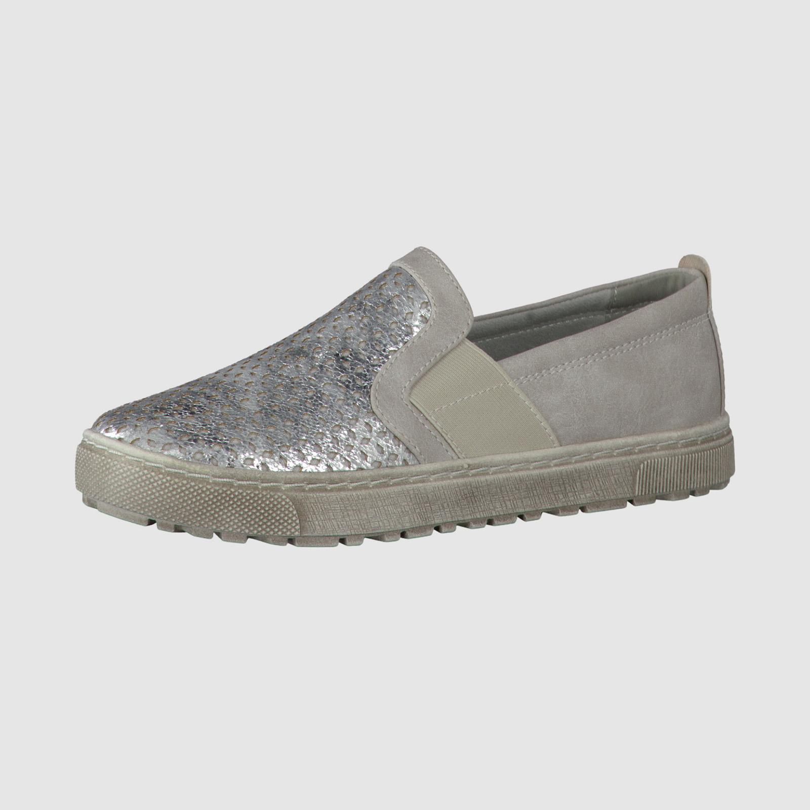 Туфли с блестящей перфорированной вставкой