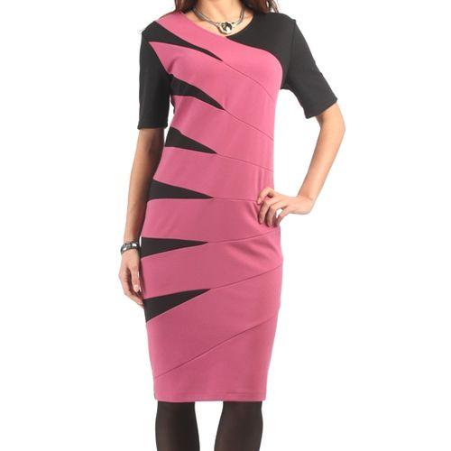 Элегантное платье дизайнерской расцветки