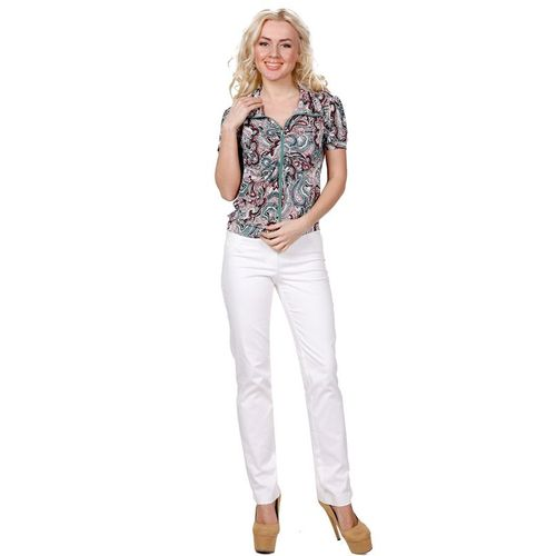 Блуза на молнии с восточным принтом виброплатформы для похудения в алматы в интернет магазине