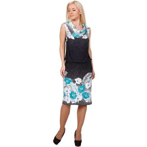 Платье с воротником-качели и цветочным принтом блузка с воротником качели helmidge блузка с воротником качели