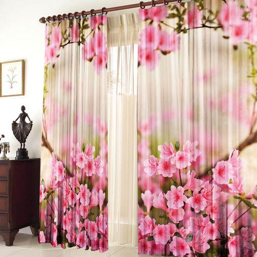 Комплект штор «Розовые цветы»