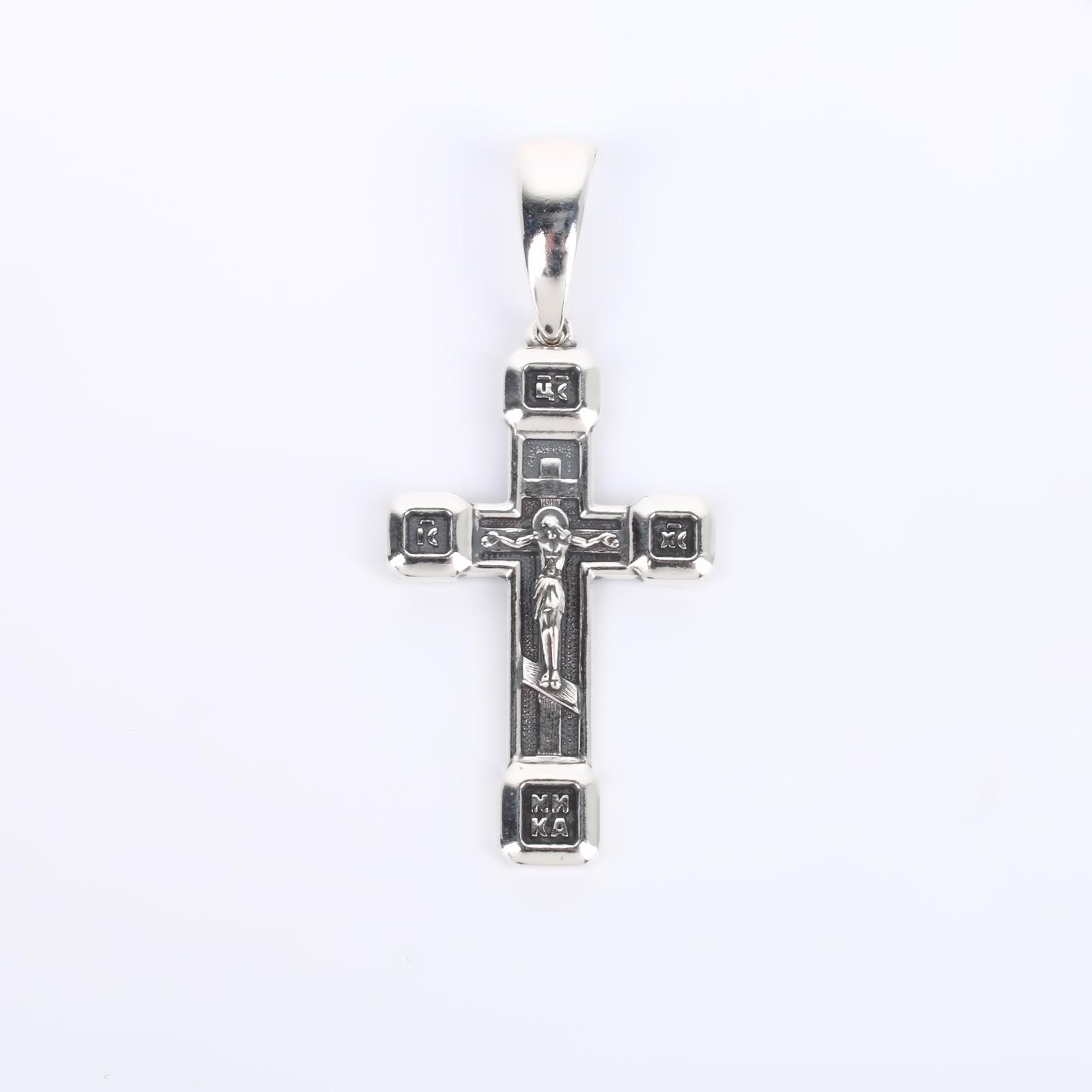 """Подвеска-крест черненая """"Христос"""""""