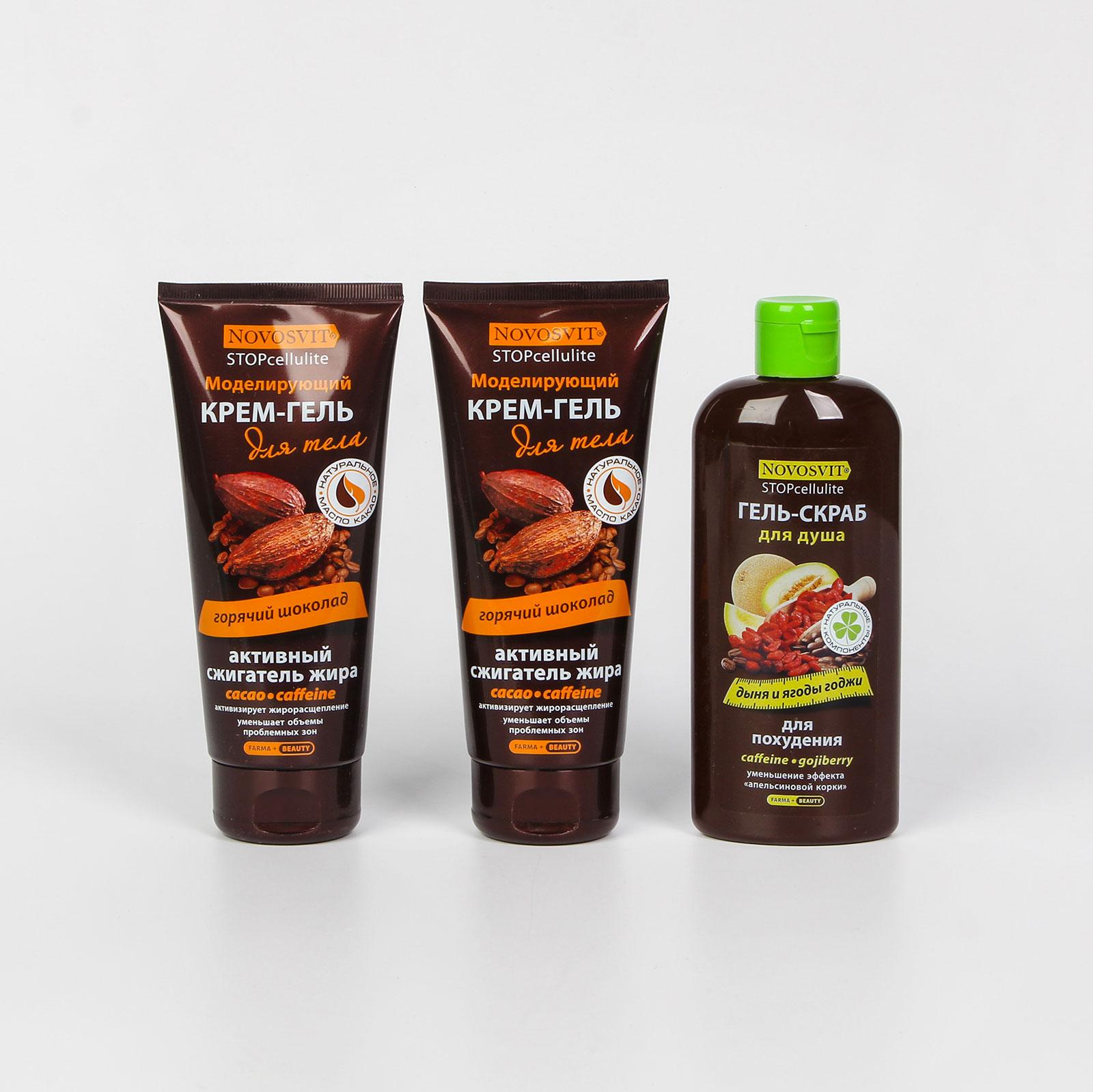"""Моделирующий крем-гель для тела """"горячий шоколад"""", 2 шт."""