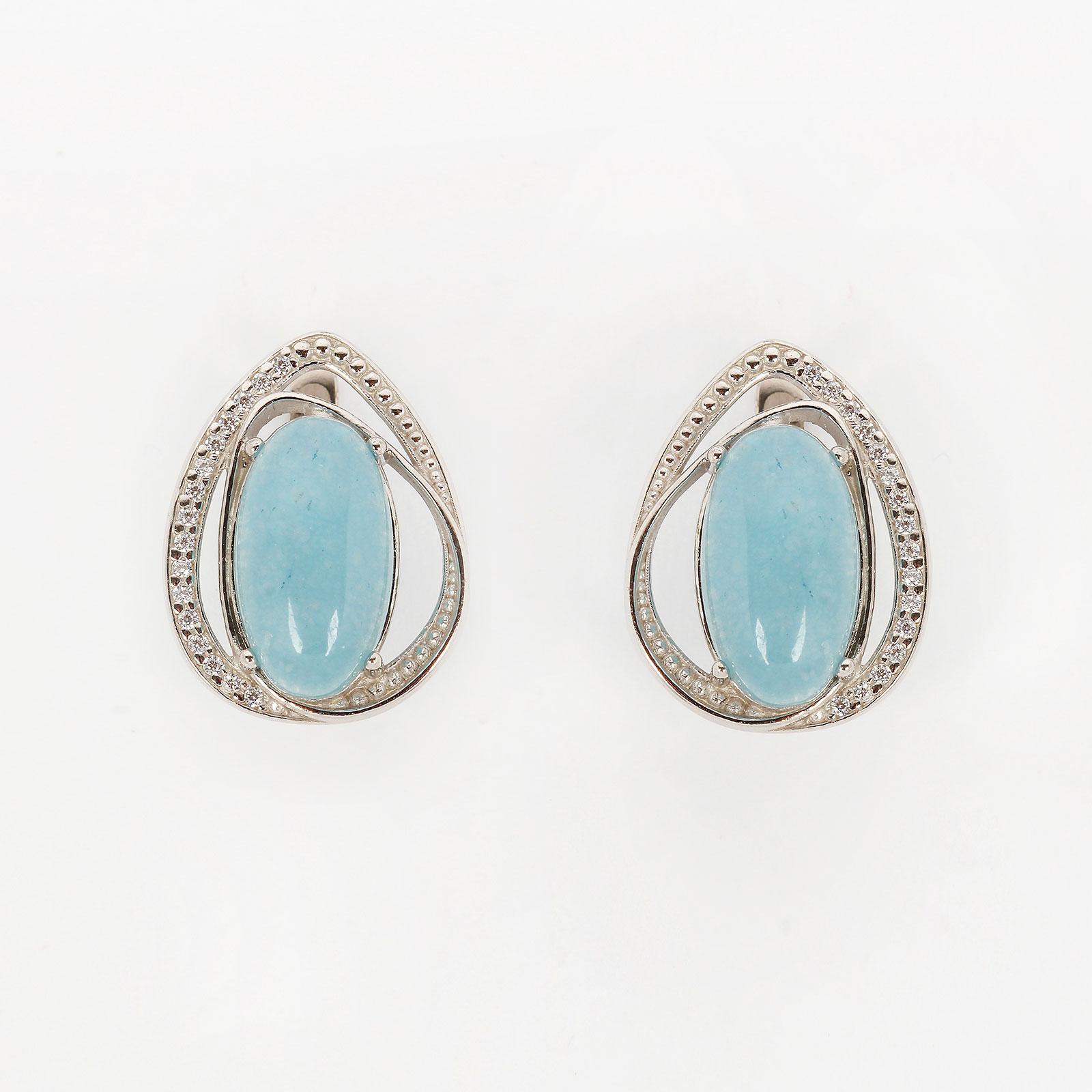 Серебряные серьги  «Лунное сияние»