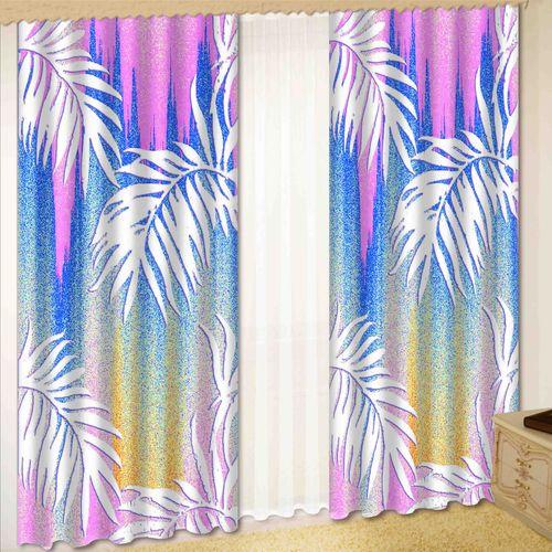 Комплект штор + тюль «Лиловая нежность»