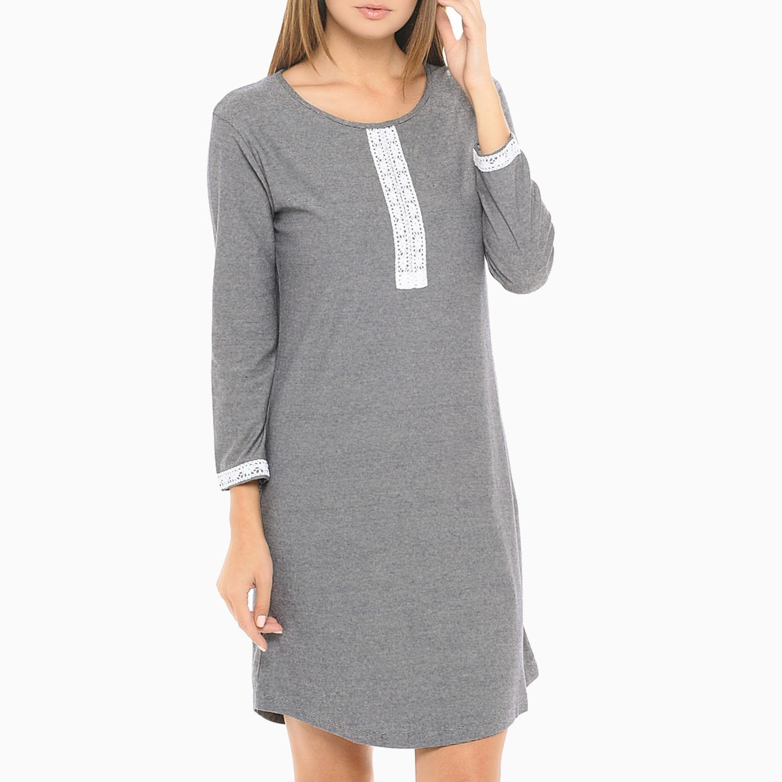 Платье-туника с кружевом