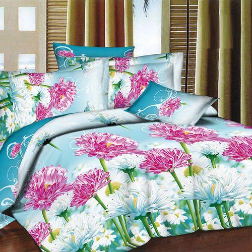 Комплект постельного белья «Герберы на голубом»
