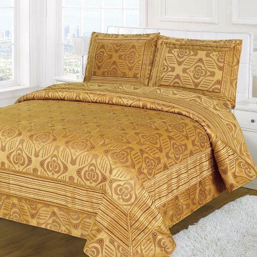 Велюровое покрывало и 2 наволочки «Золотой век»