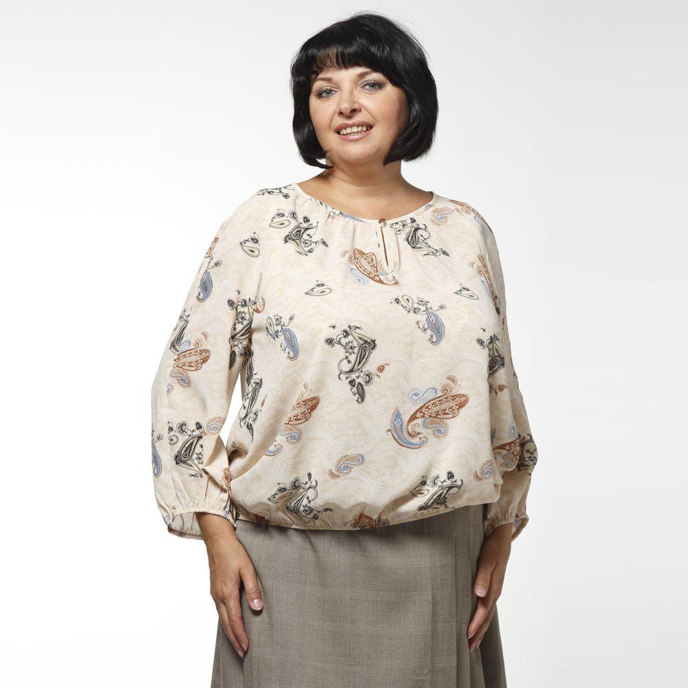 Блуза свободного кроя с принтом «пейсли»