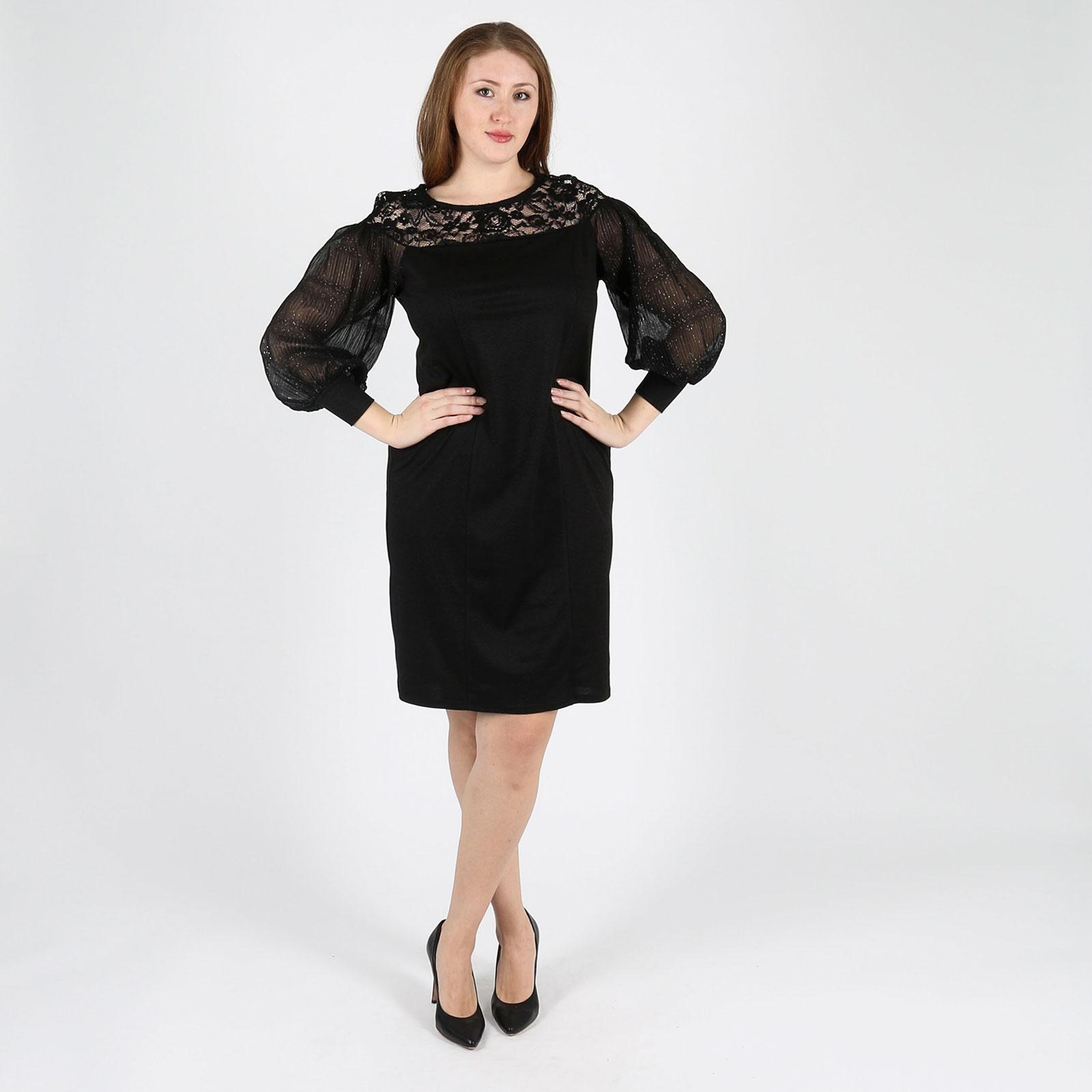 Платье с шифоновыми рукавами