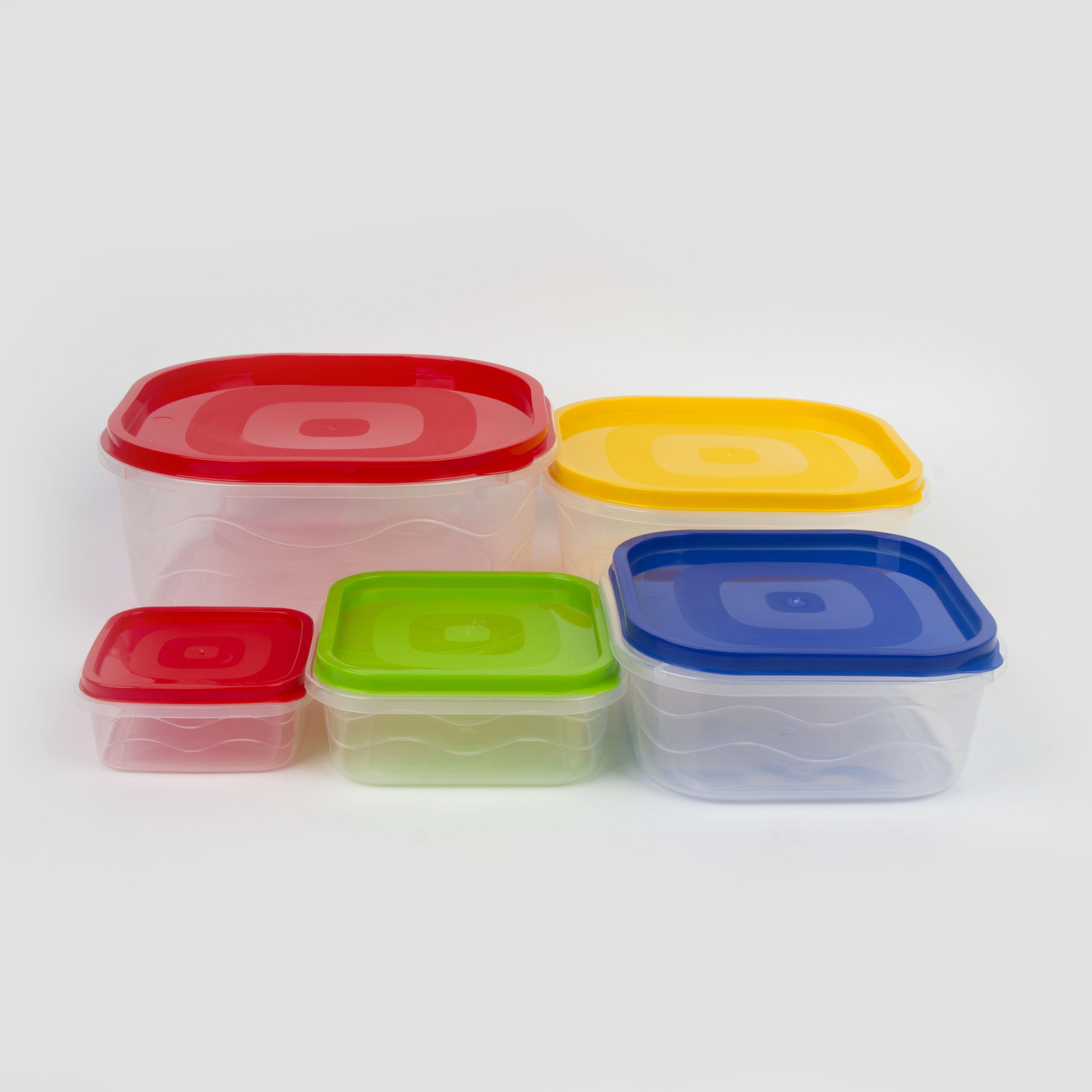 Набор для кухни: 5 контейнеров разных размеров «Радуга»