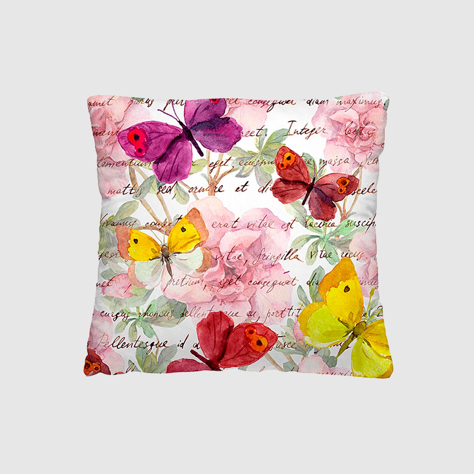 Комплект из 2 декоративных подушек «Бабочки»