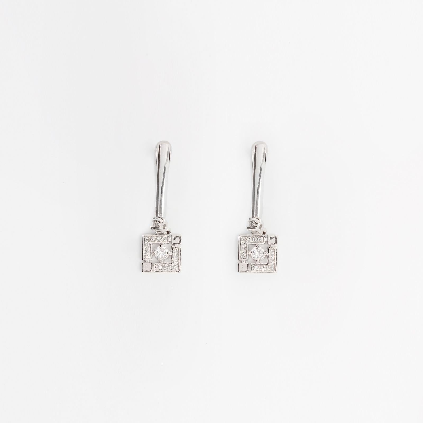 Серебряные серьги «Авеню»
