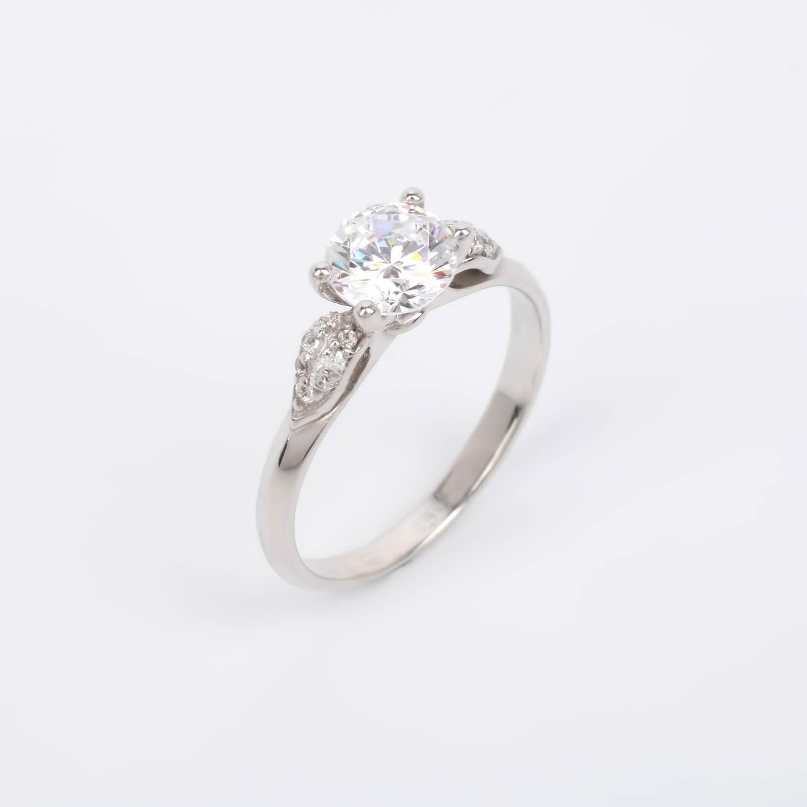 """Серебряное кольцо """"Изящный кристалл"""""""